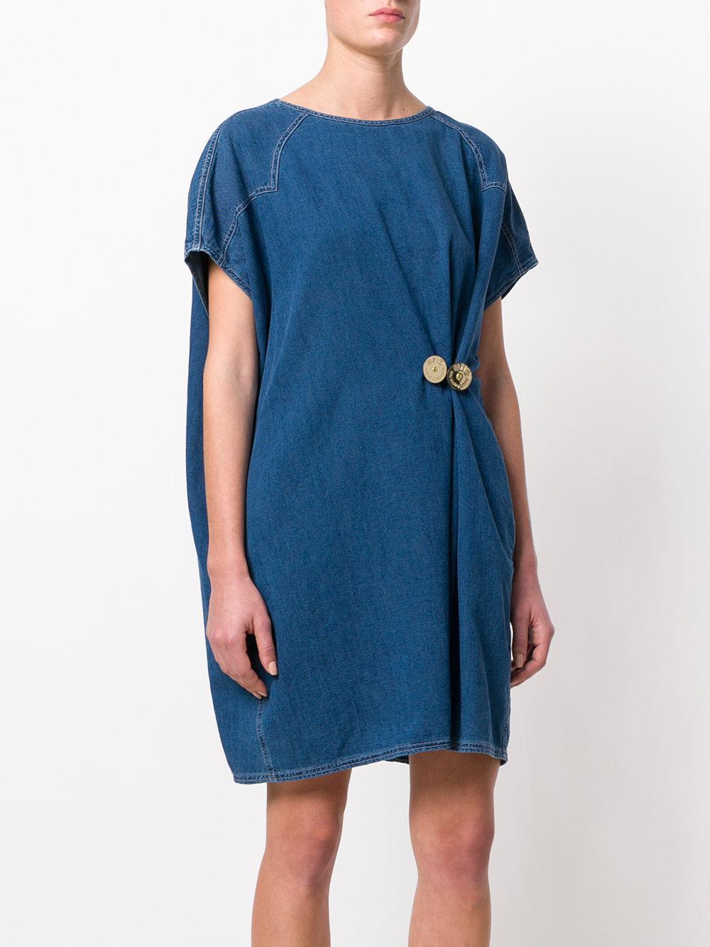 classic denim shift dress - Blue Maison Martin Margiela lnAdtHv