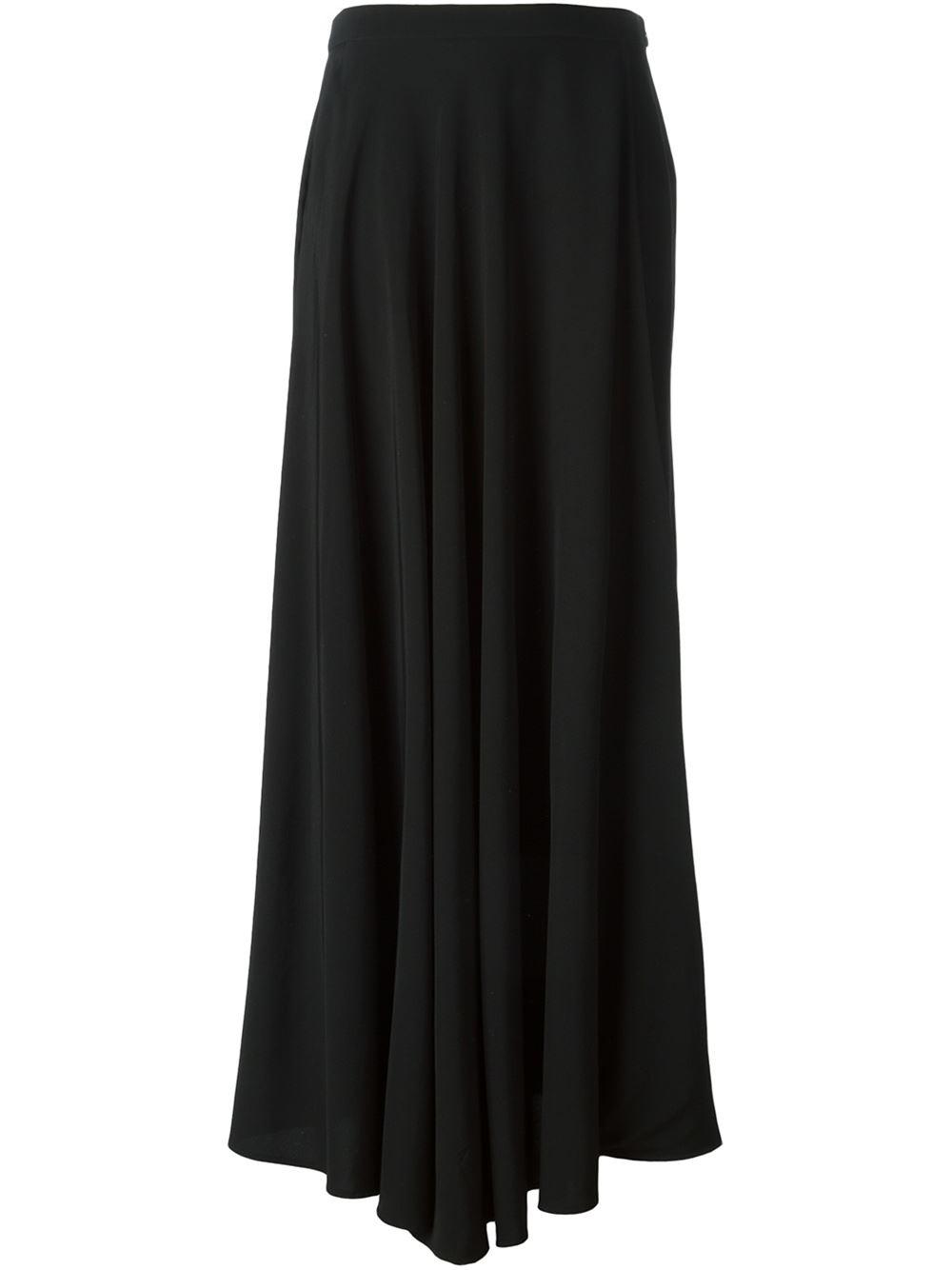 jean paul gaultier draped maxi skirt in black lyst