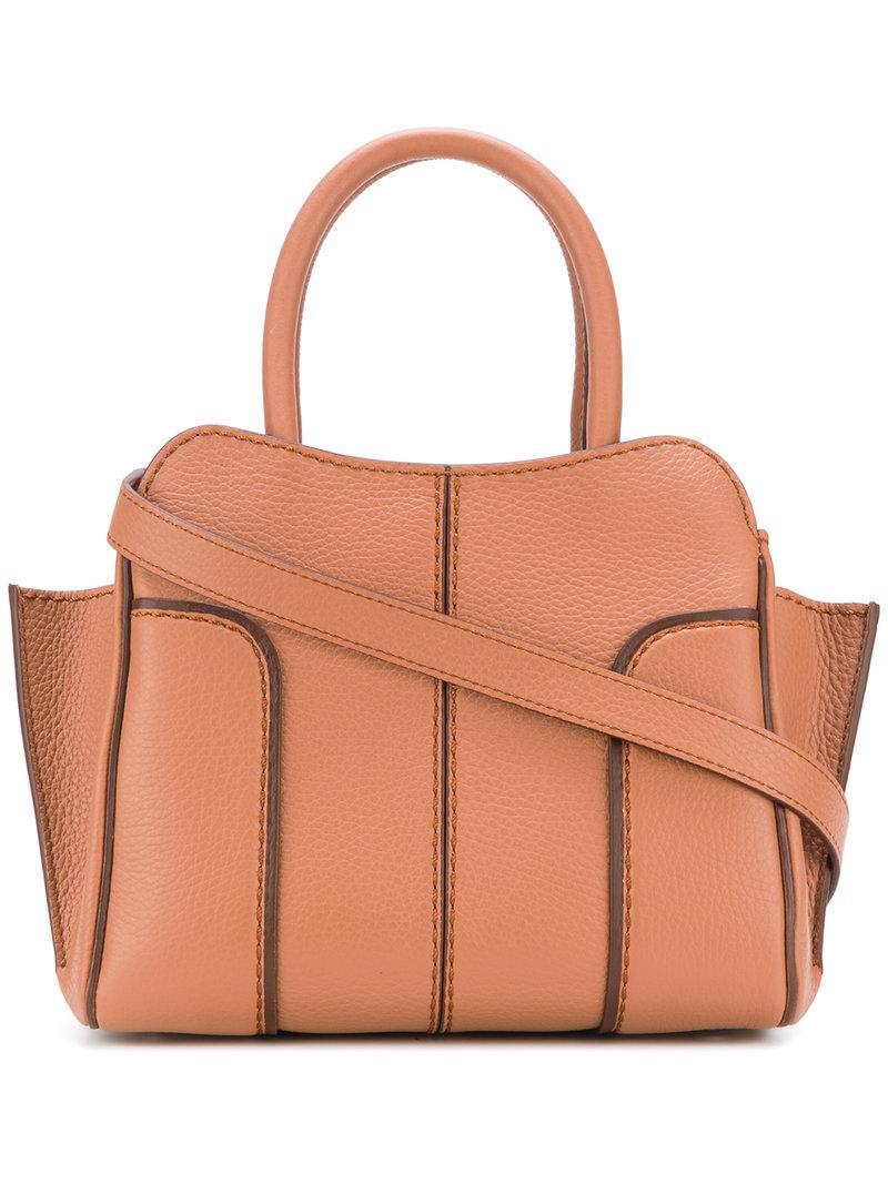 f738a475af Lyst - Tod S Panelled Shoulder Bag in Brown