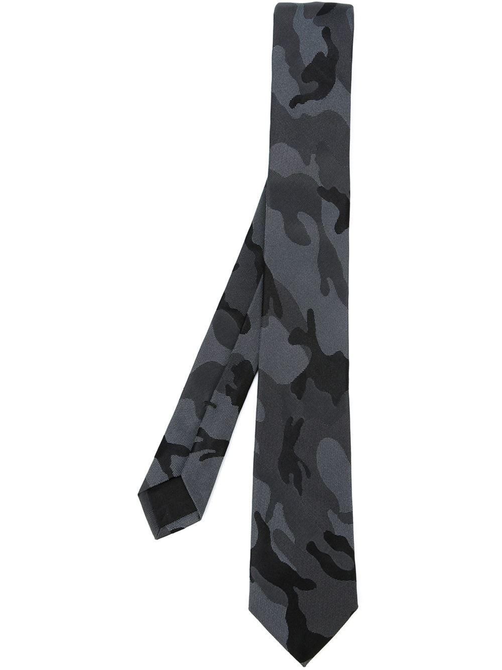 Multicolor Valentino Garavani Silk Camouflage Tie Valentino JE6Eu0vvr