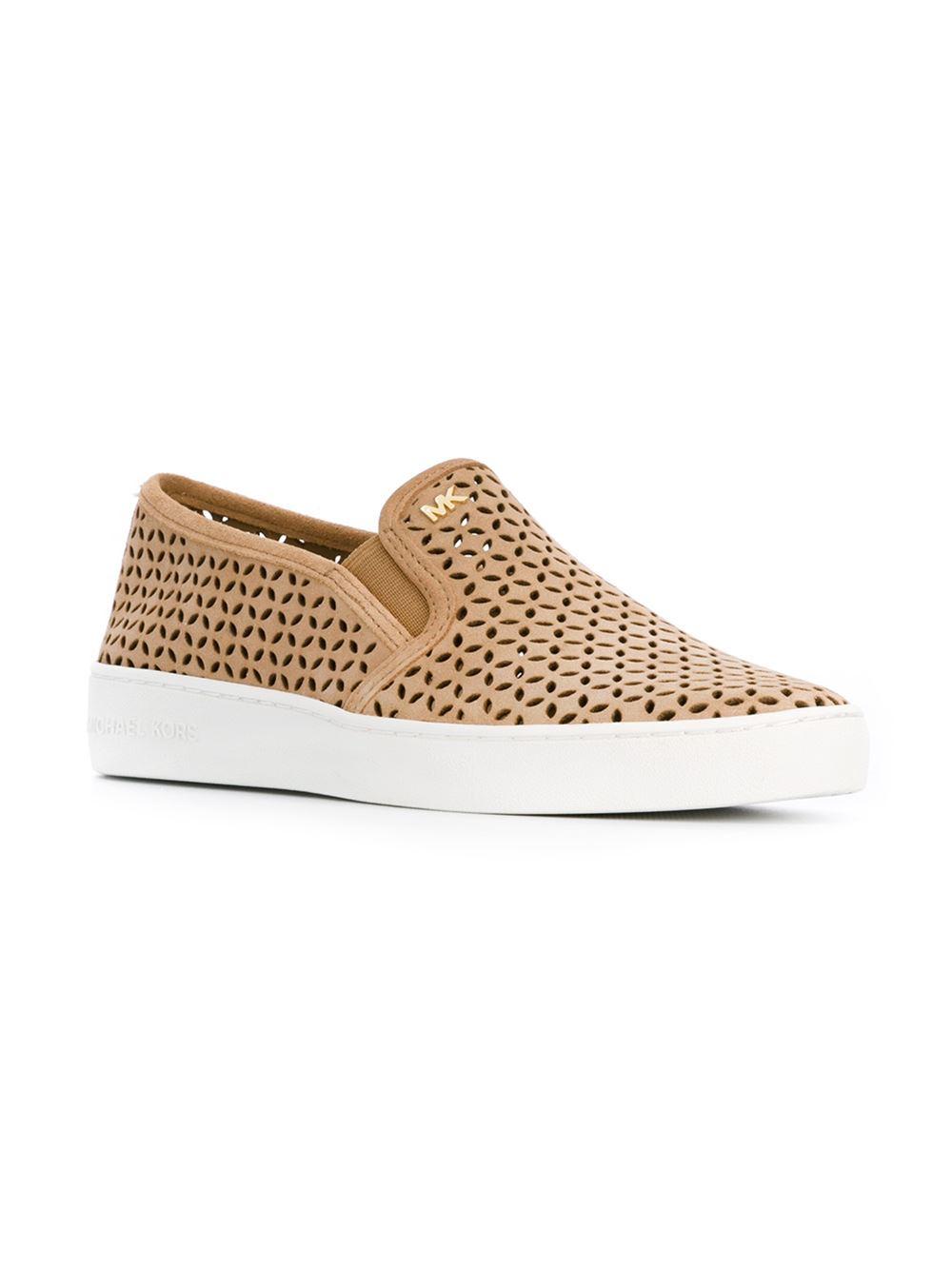 e71f4367 MICHAEL Michael Kors 'olivia' Slip-on Sneakers in Natural - Lyst