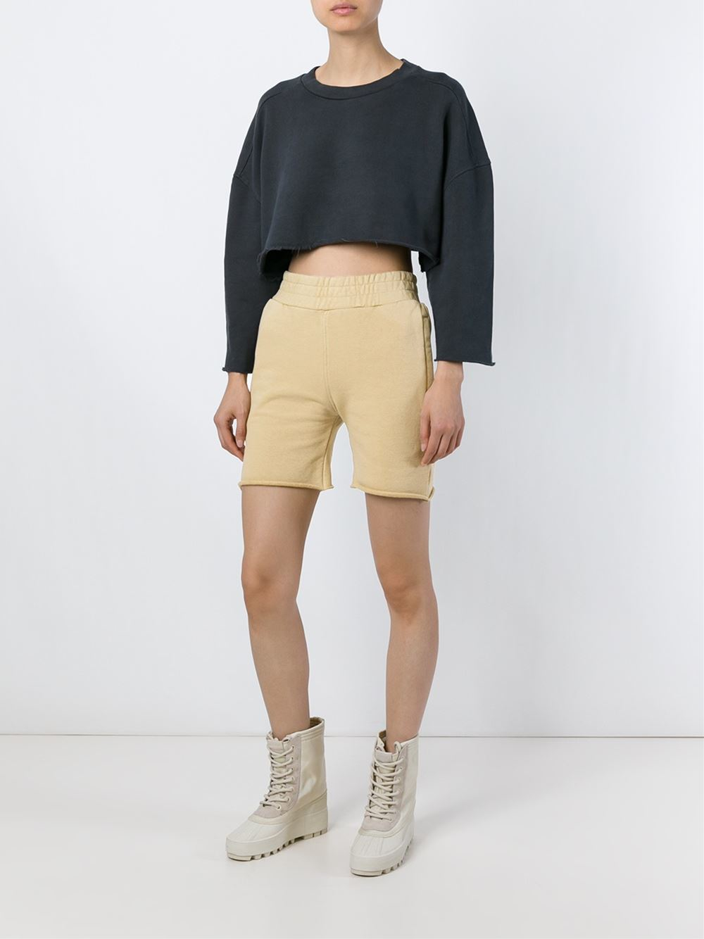 yeezy adidas originals by kanye west track shorts in