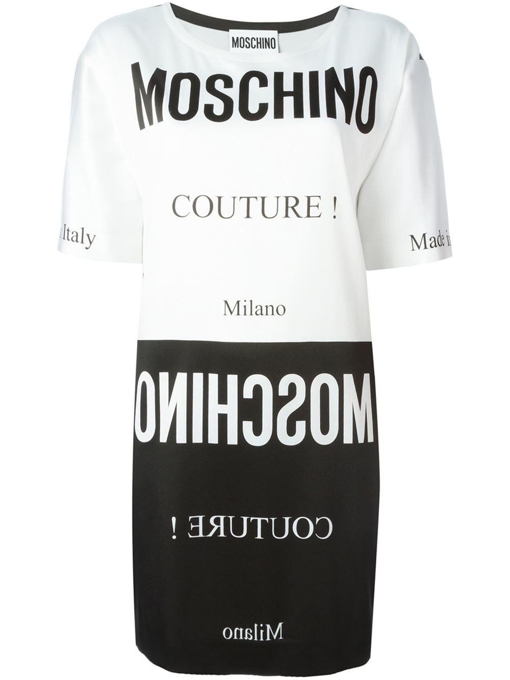 93612d8ae5b8a Moschino T Shirt Dress White - Dress Foto and Picture