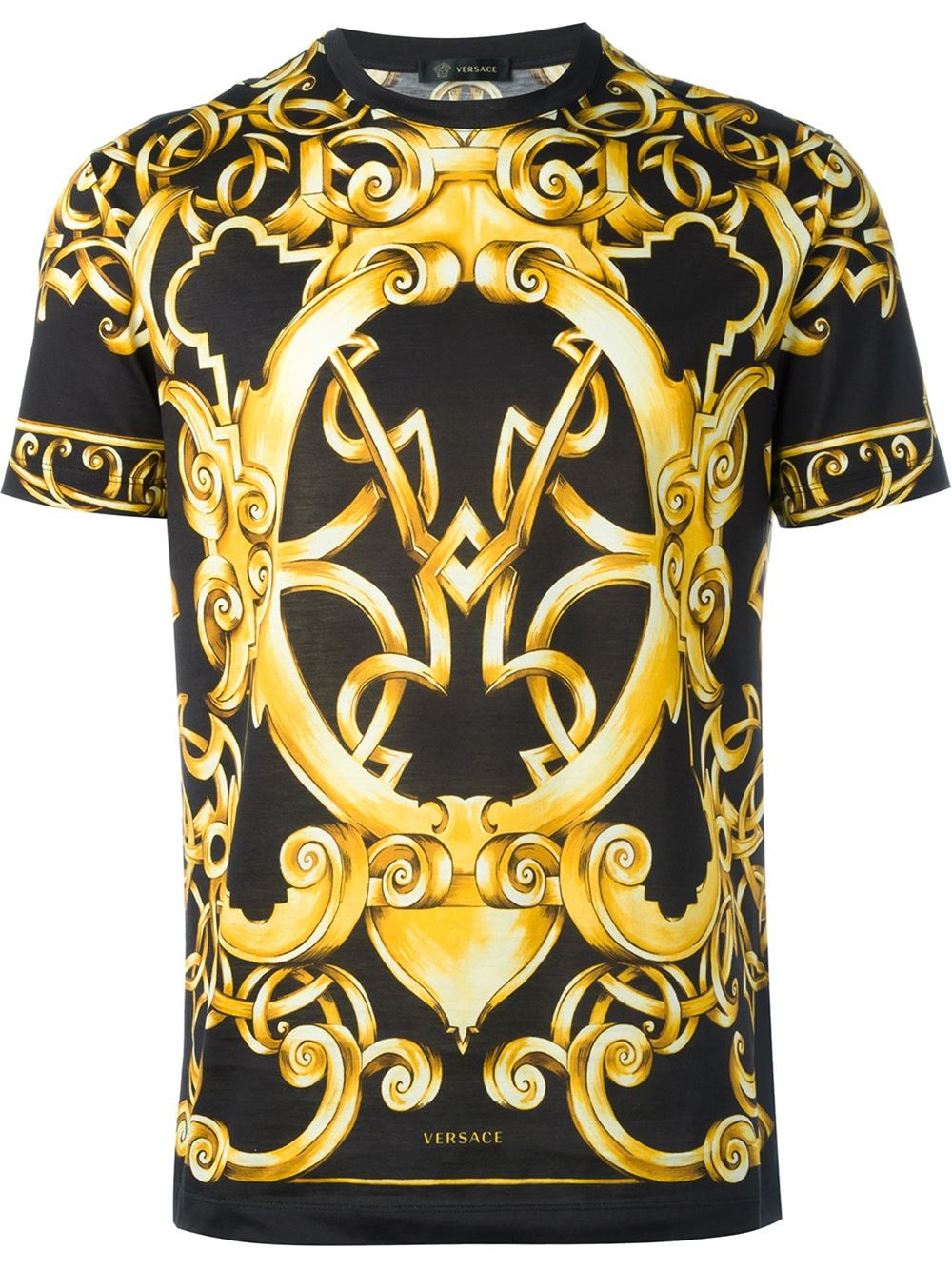fadedc860f3 Lyst - Versace Baroque Print T-shirt in Black for Men