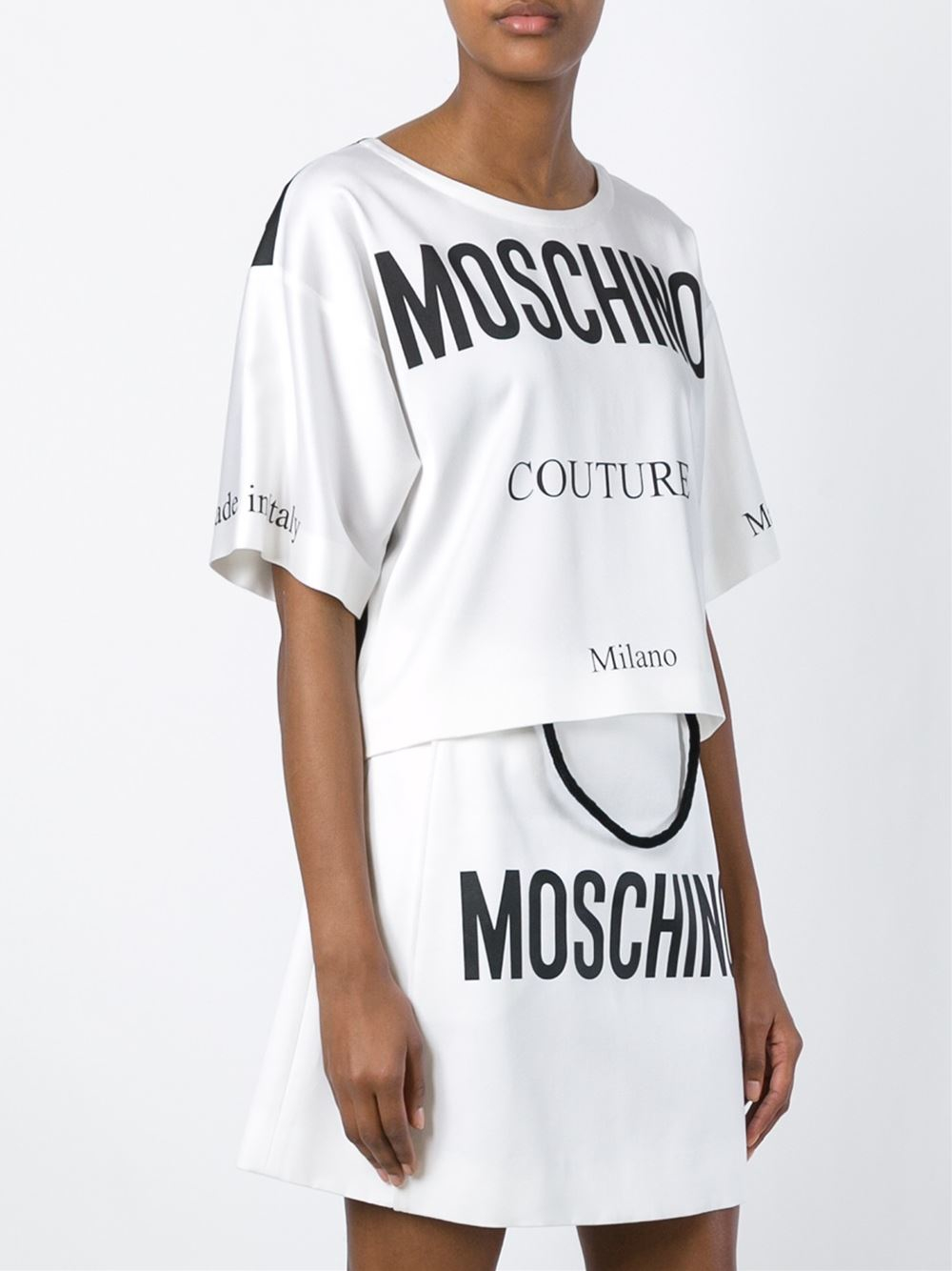 Lyst - Moschino Couture Print T-shirt in White