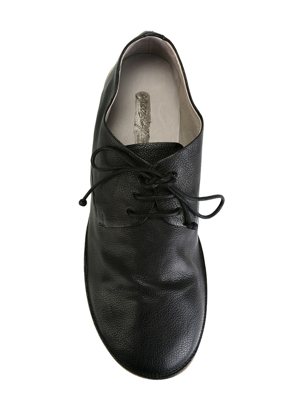 mars 232 ll mars 232 ll stacked heel derby shoes in black for