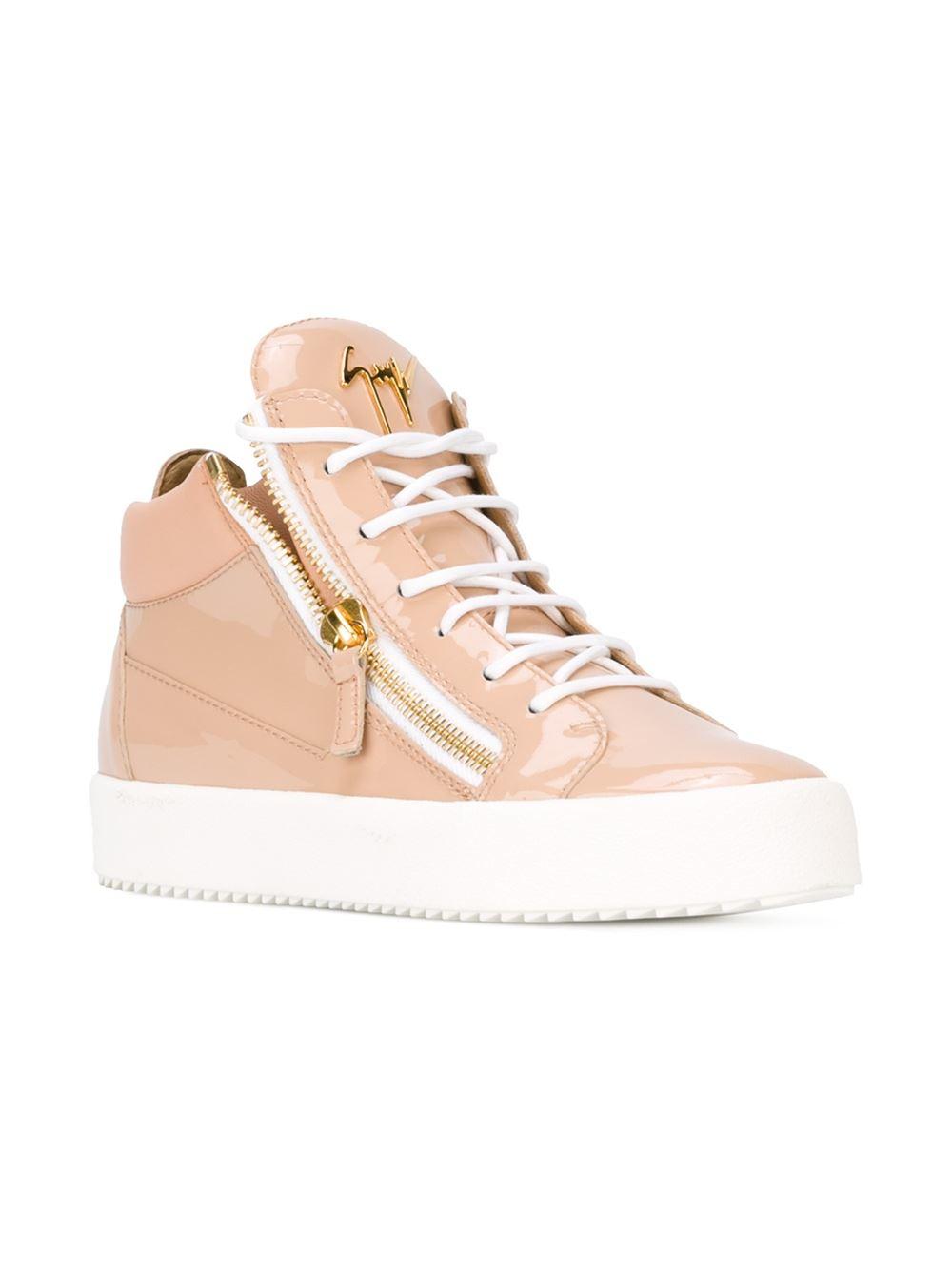 giuseppe zanotti kriss hi top sneakers in pink lyst