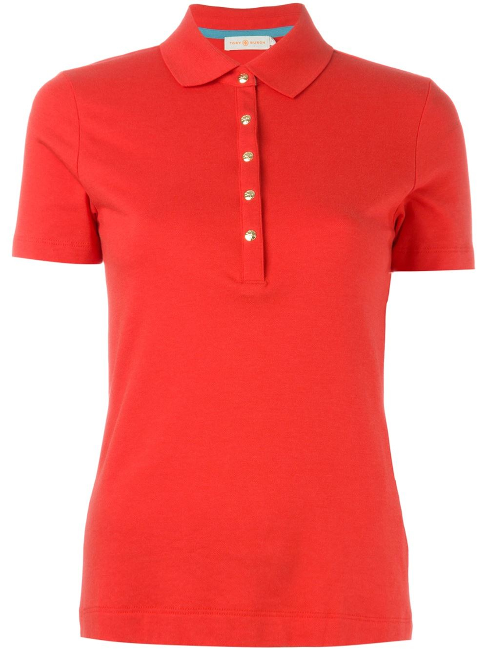 Tory Burch Classic Polo Shirt In Red Lyst