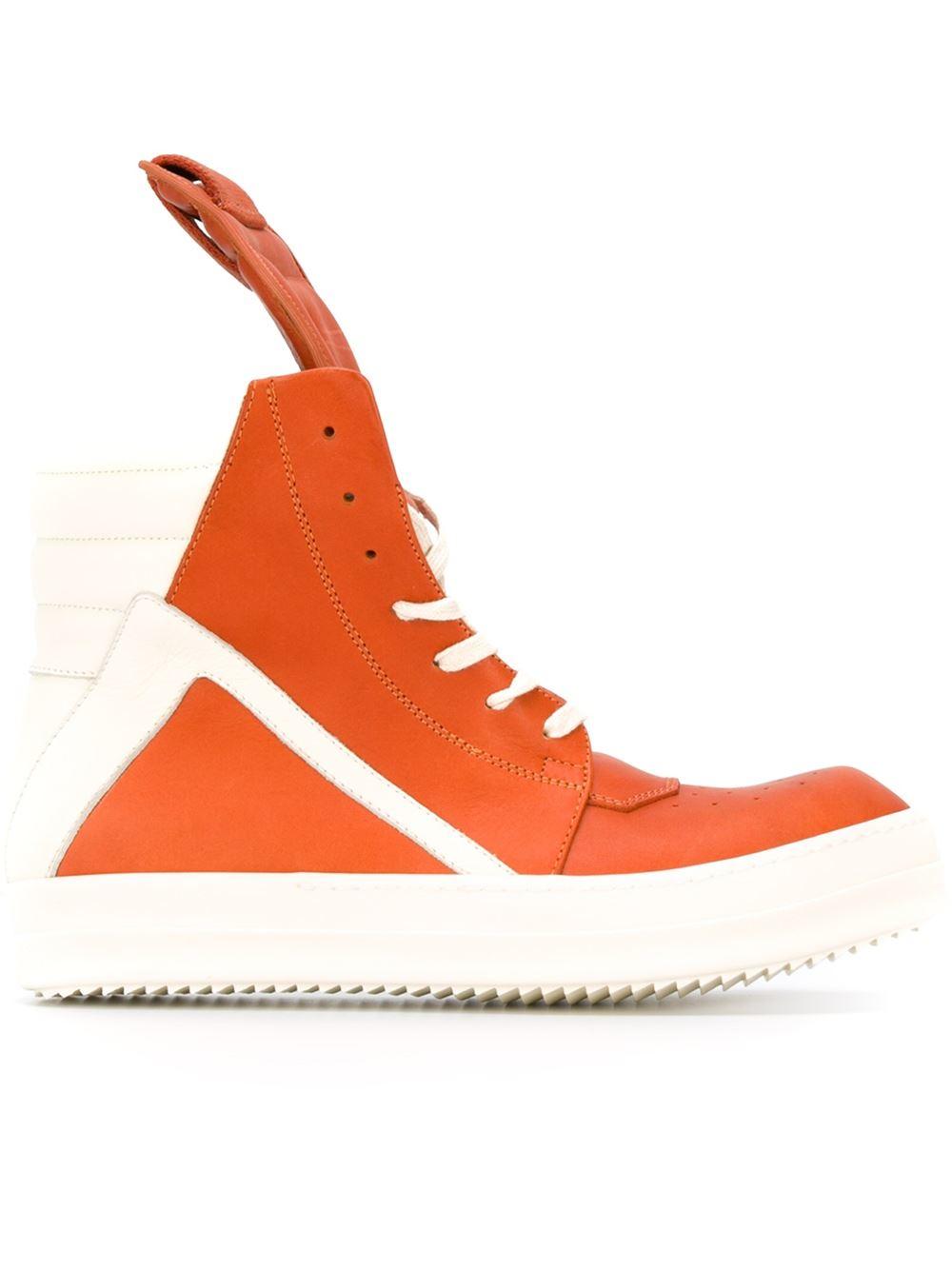 d1fa7fb281983b Lyst - Rick Owens  geobasket  Hi-top Sneakers in Orange