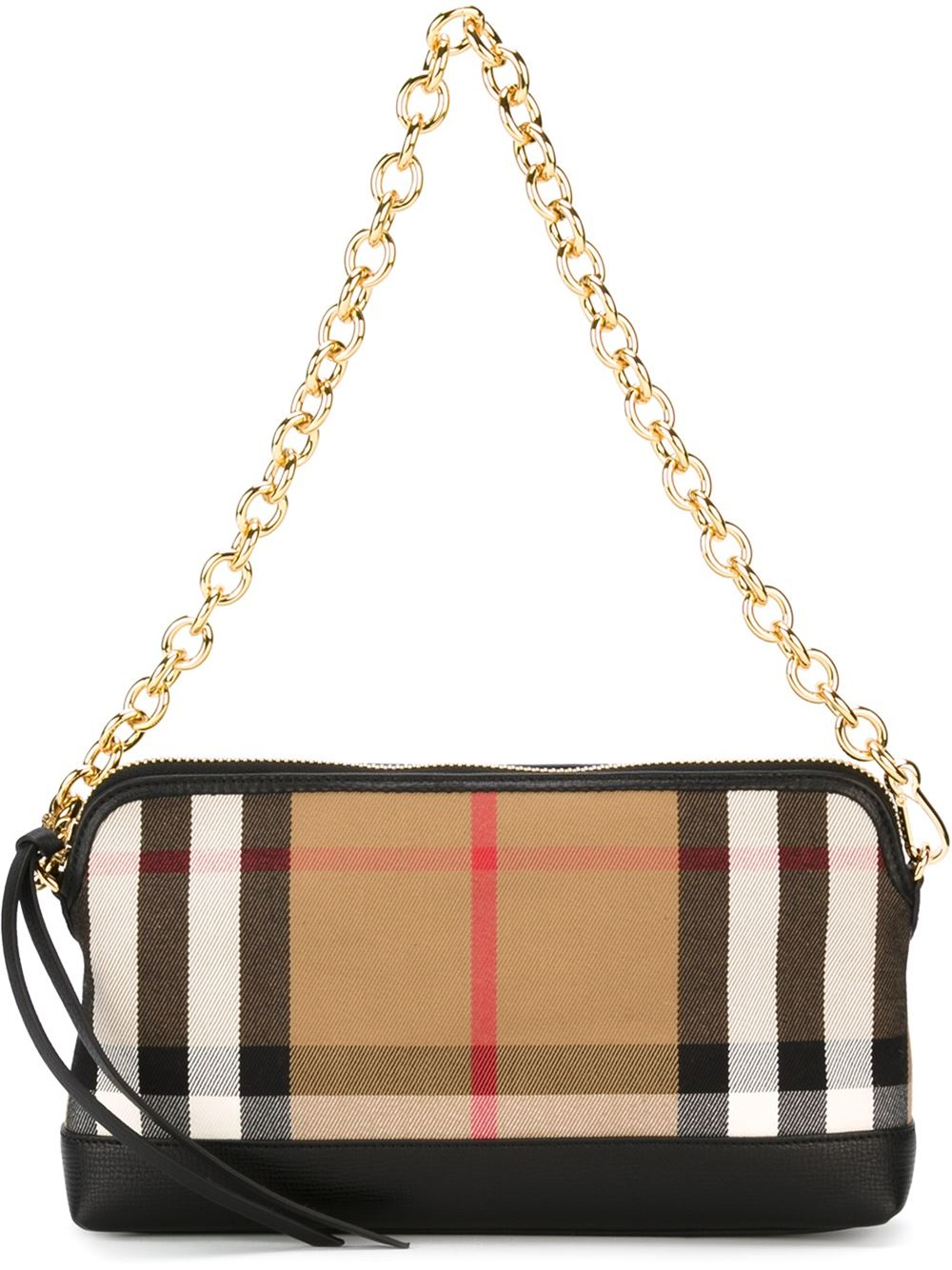burberry checked shoulder bag in black lyst