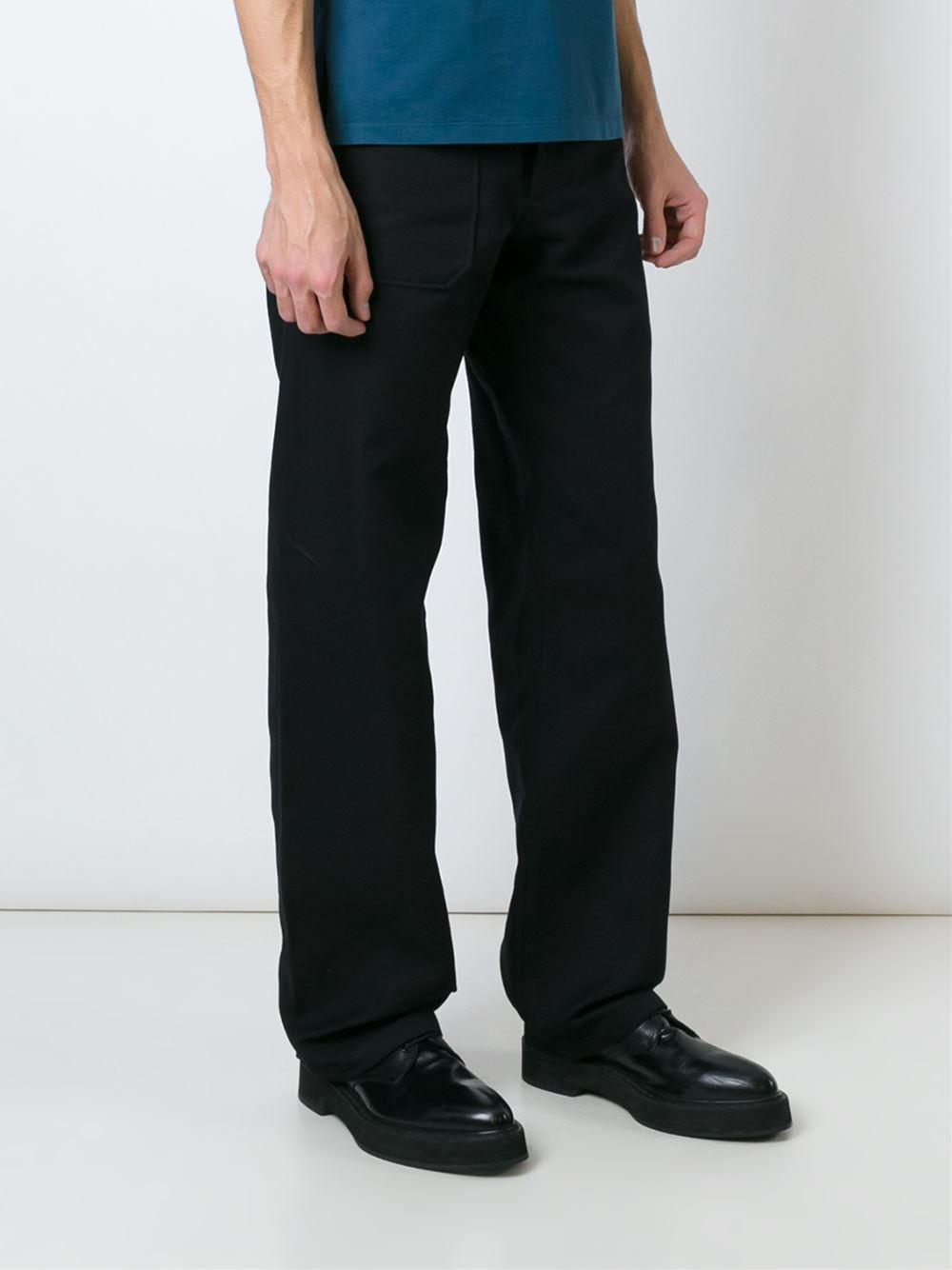 Lyst maison margiela wide leg trousers in black for men for 10 moulmein rise la maison