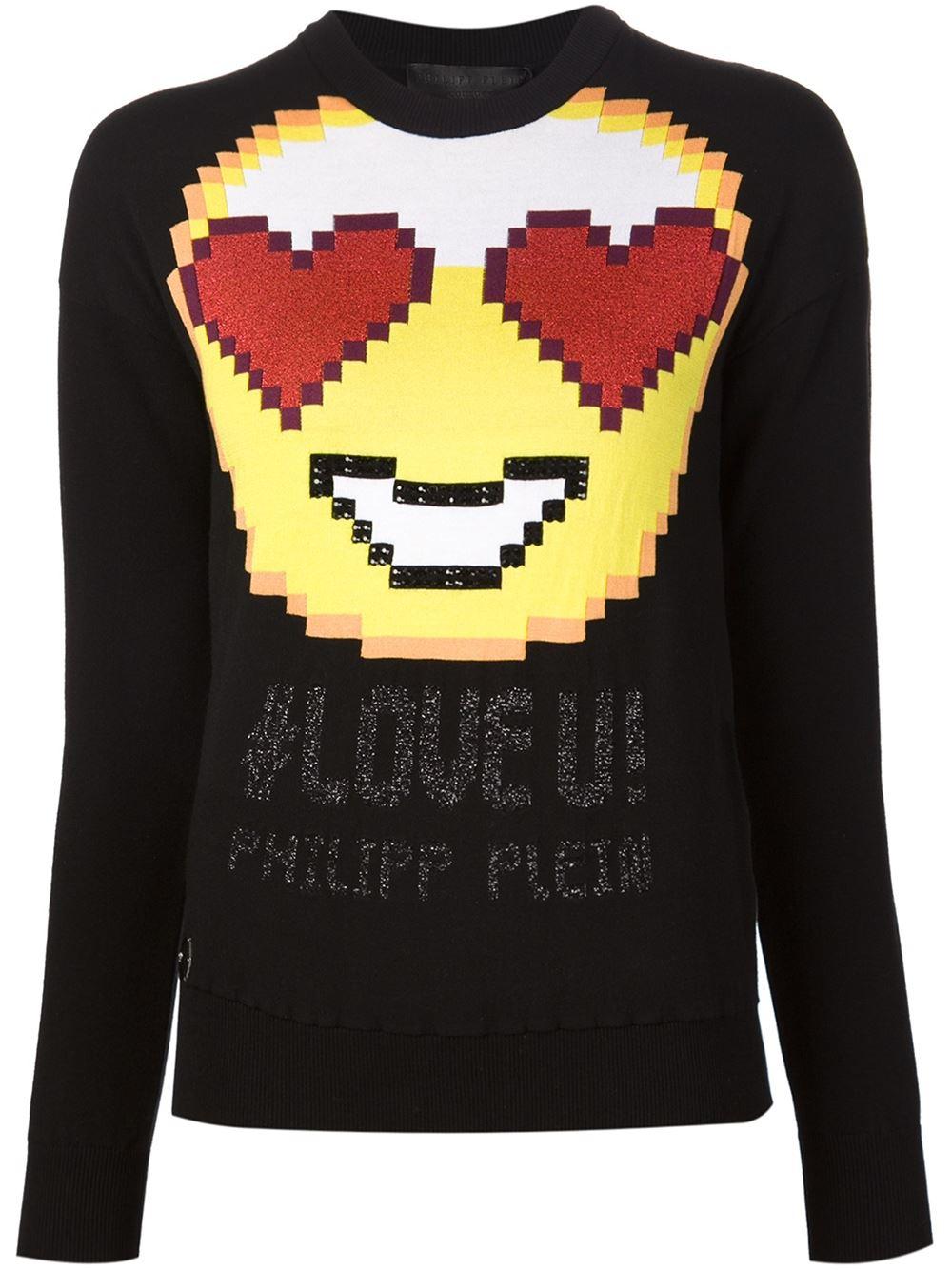philipp plein 39 cannot 39 sweater in black lyst. Black Bedroom Furniture Sets. Home Design Ideas