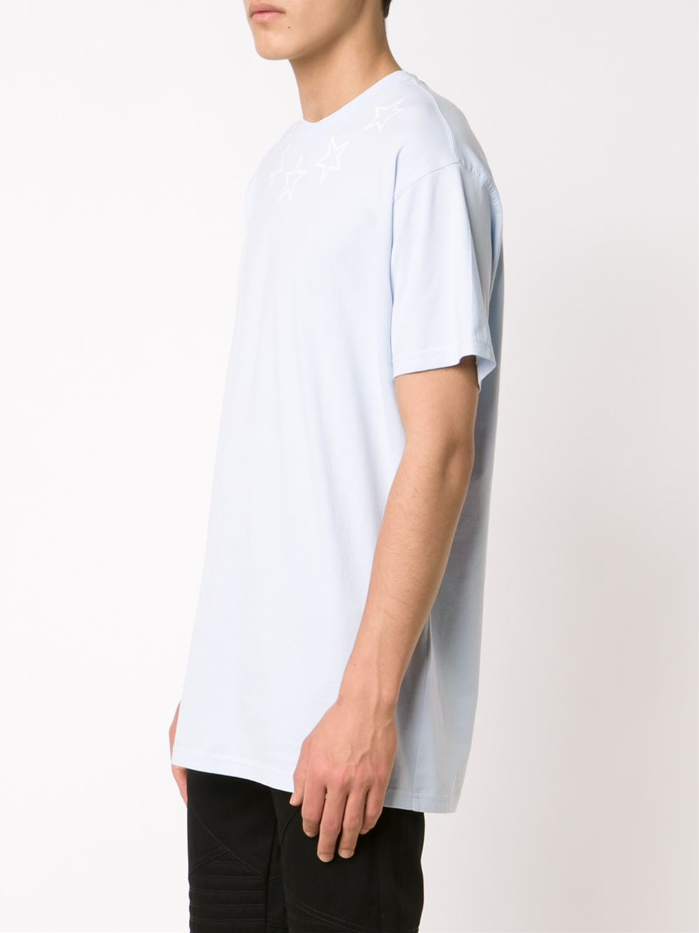 Givenchy star print t shirt in white for men blue lyst for Givenchy star t shirt