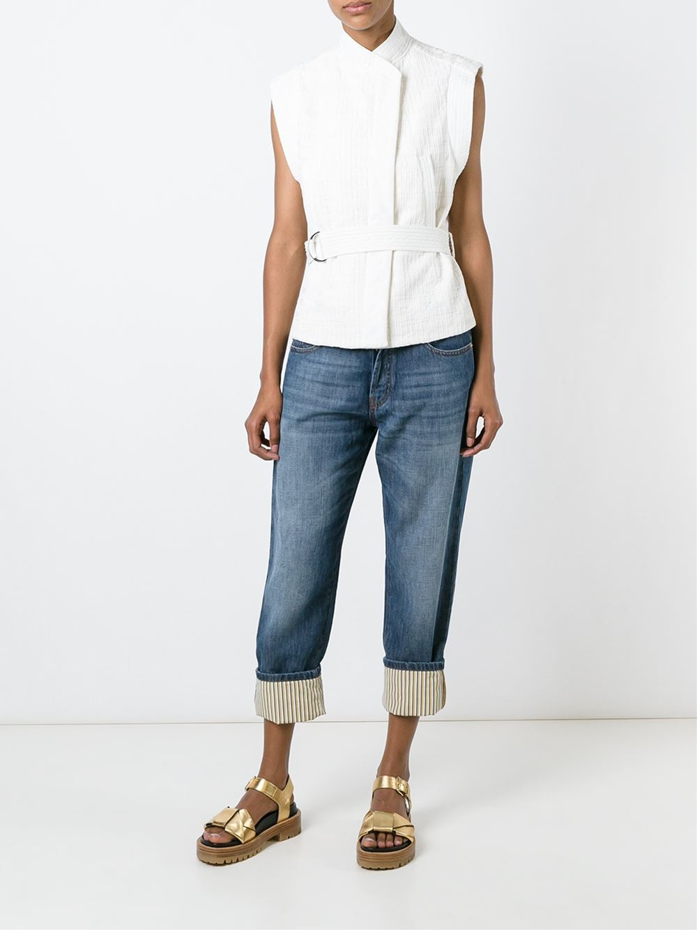 Lyst Marni Cropped Jeans In Blue