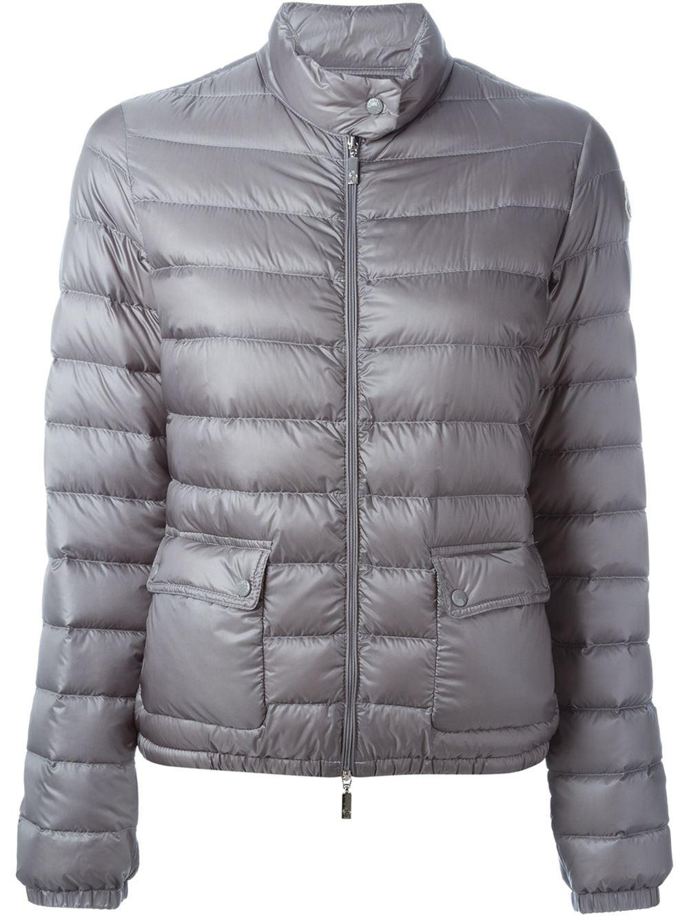 Moncler Lans Puffer Jacket In Gray Lyst