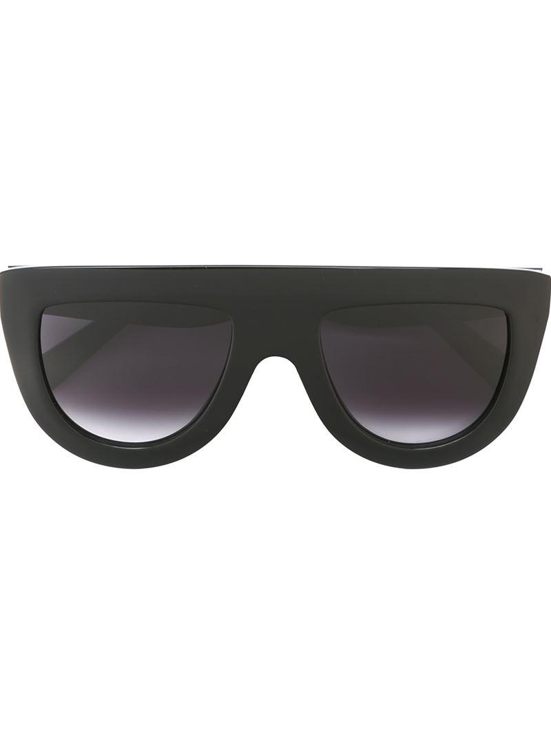 C 233 Line Visor Frame Sunglasses In Black Lyst