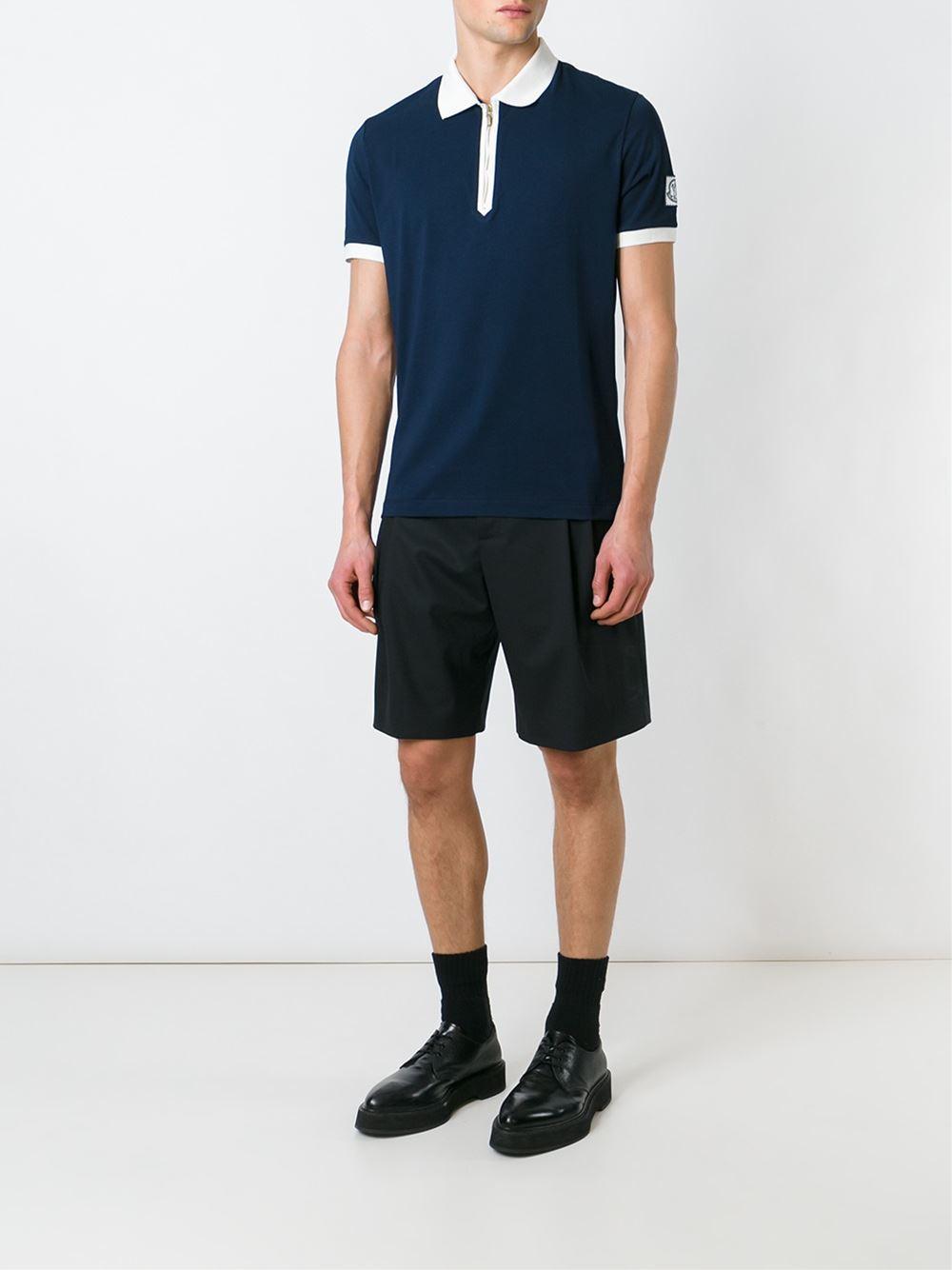 c61ef53ee Moncler gamme bleu Logo Polo Shirt in Blue for Men | Lyst