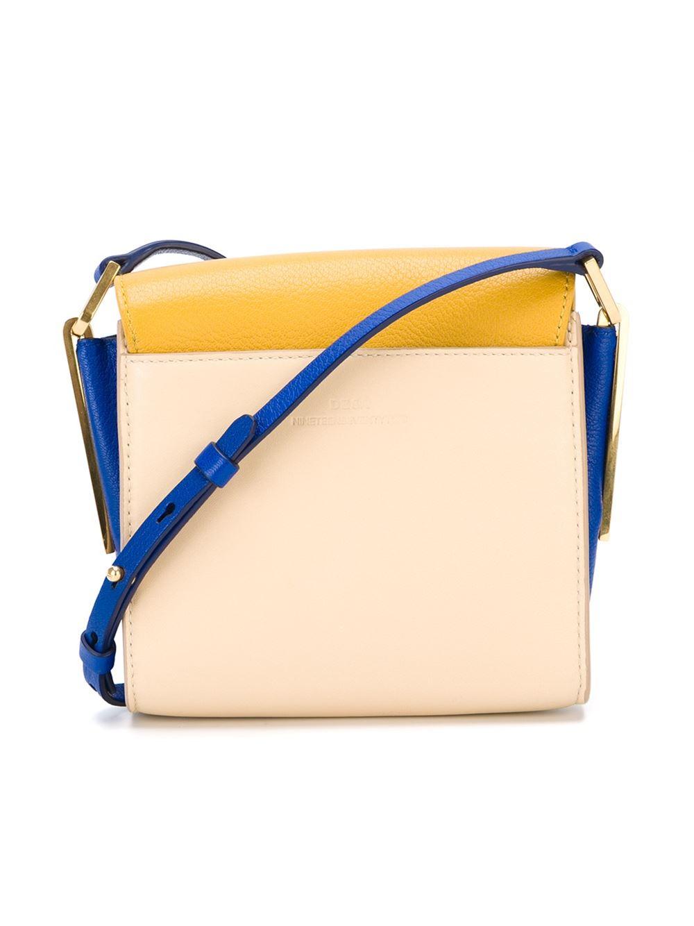 desa 1972 colour block crossbody bag in yellow
