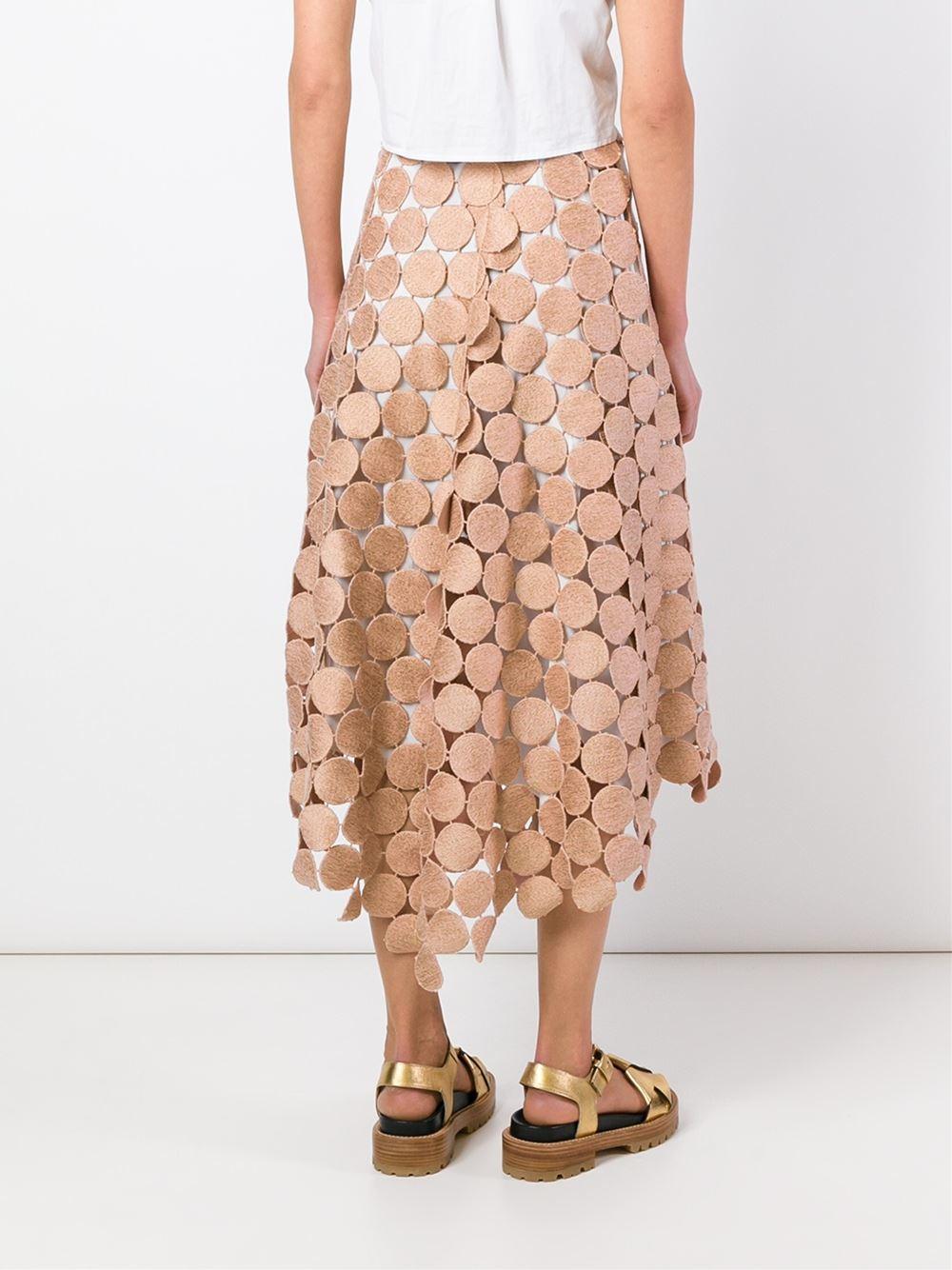 Marni 'dot Macramé' A-line Skirt in Pink