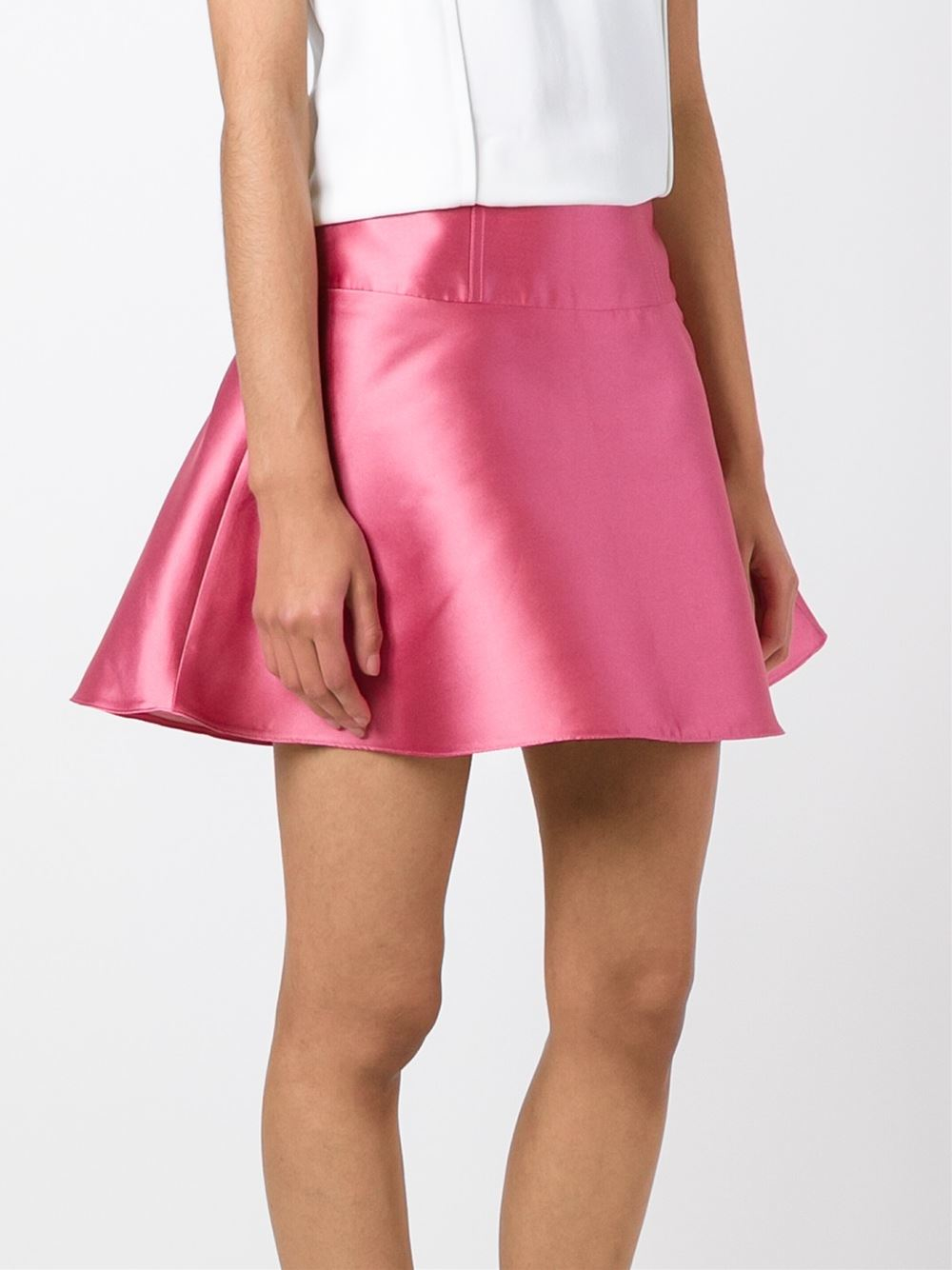 Red valentino Lace Detail Skirt in Pink (PINK & PURPLE) | Lyst