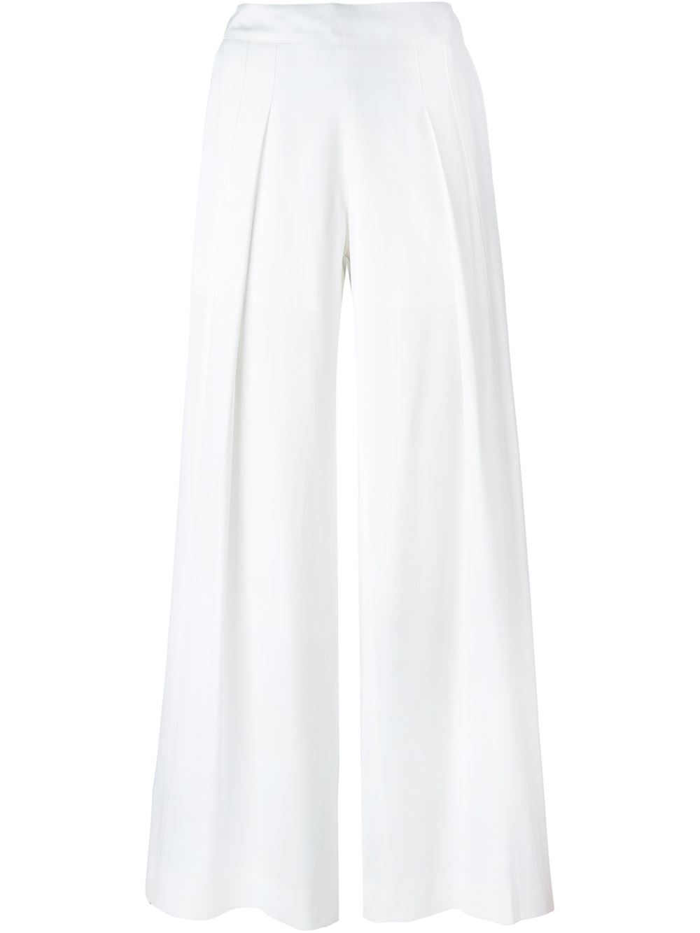 Kenzo Palazzo Pants In White Lyst