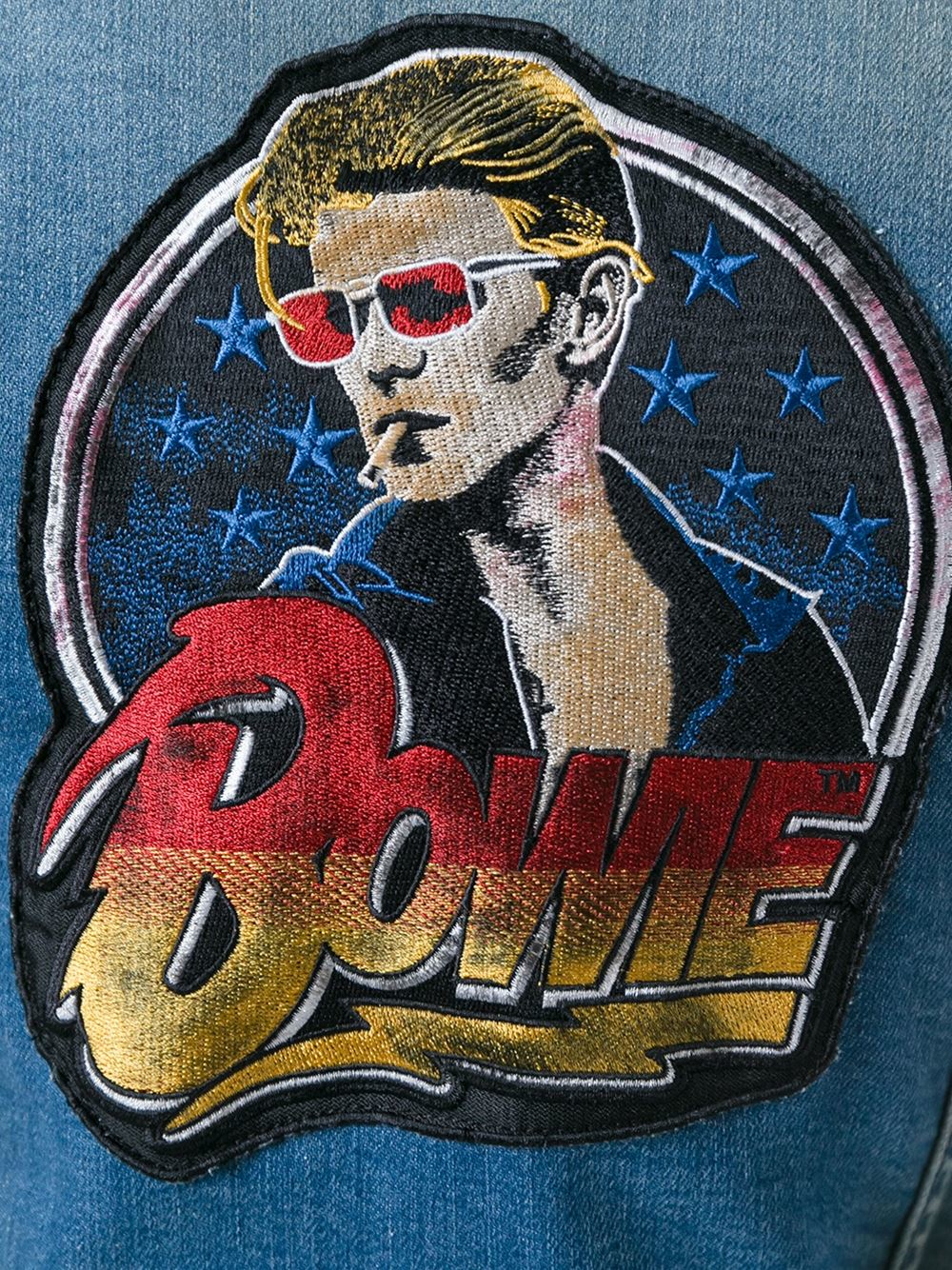 Lyst R13 David Bowie Patch Denim Jacket In Blue