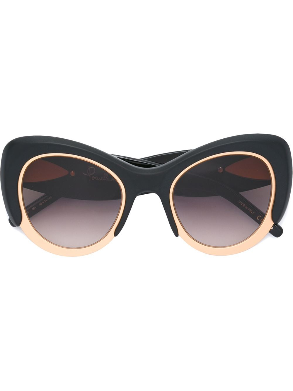 Gold Frame Cat Eye Sunglasses : Pomellato Oversized Cat Eye Frame Sunglasses in Gold ...