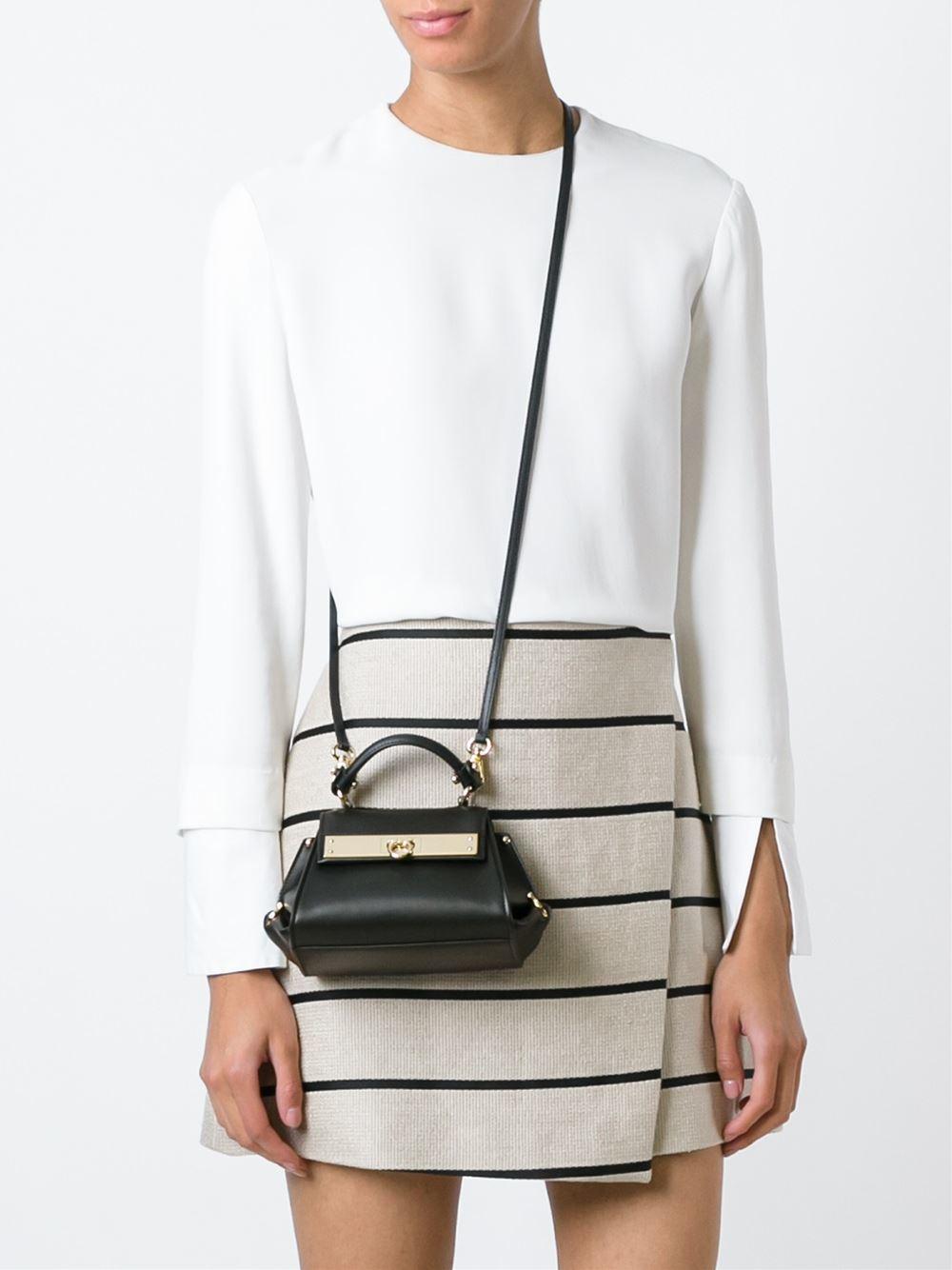 d38d2d0cdf Lyst - Ferragamo  sofia  Crossbody Bag in Black