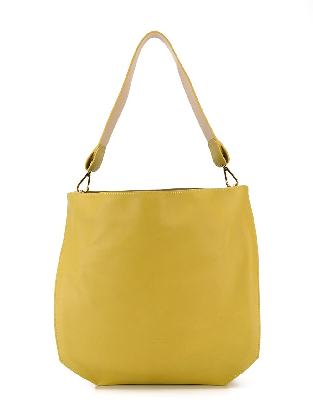 Desa 1972 Large Shoulder Bag In Yellow Yellow Amp Orange