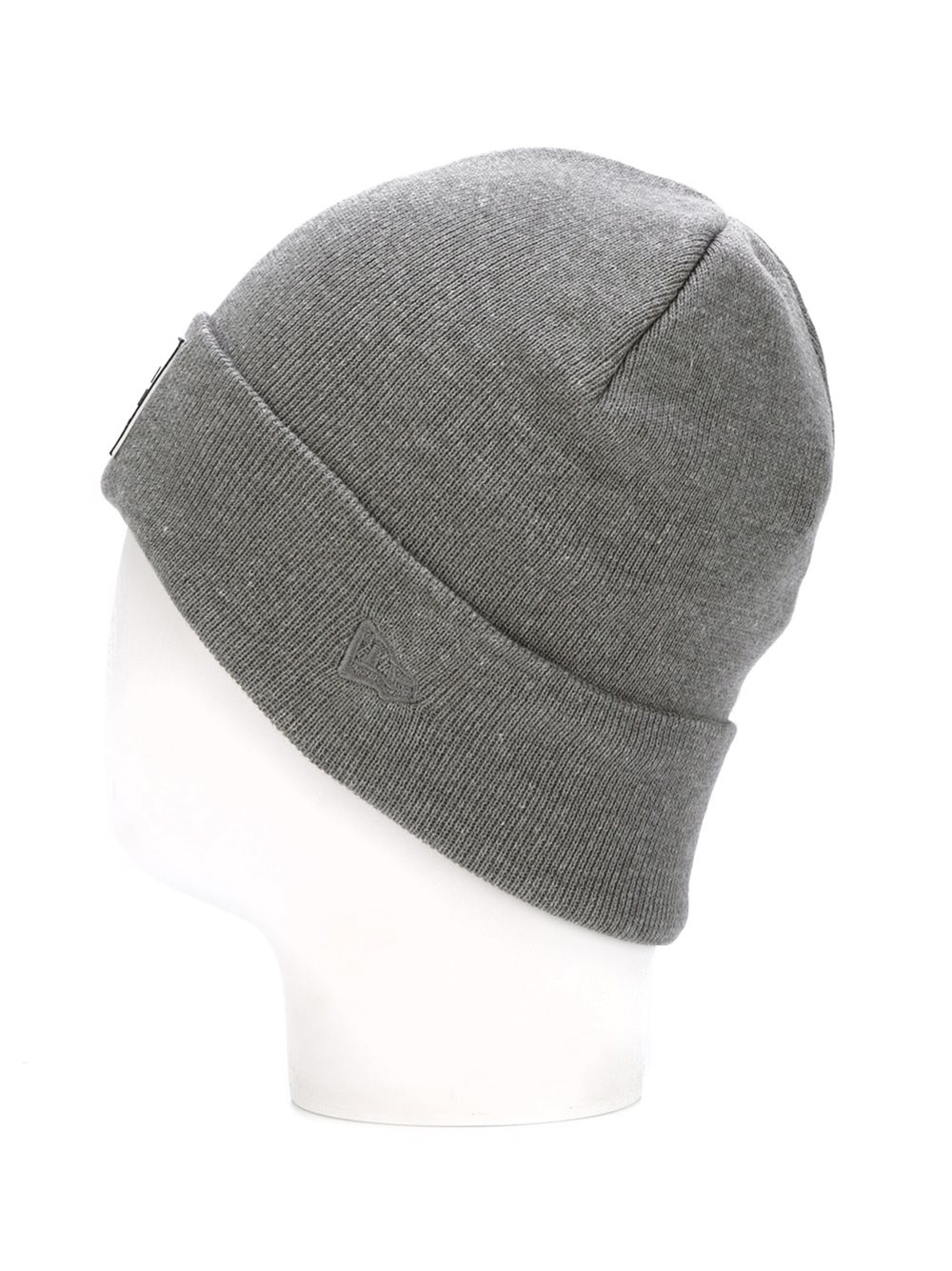 Opening Ceremony Cotton Logo Patch Beanie In Grey Gray