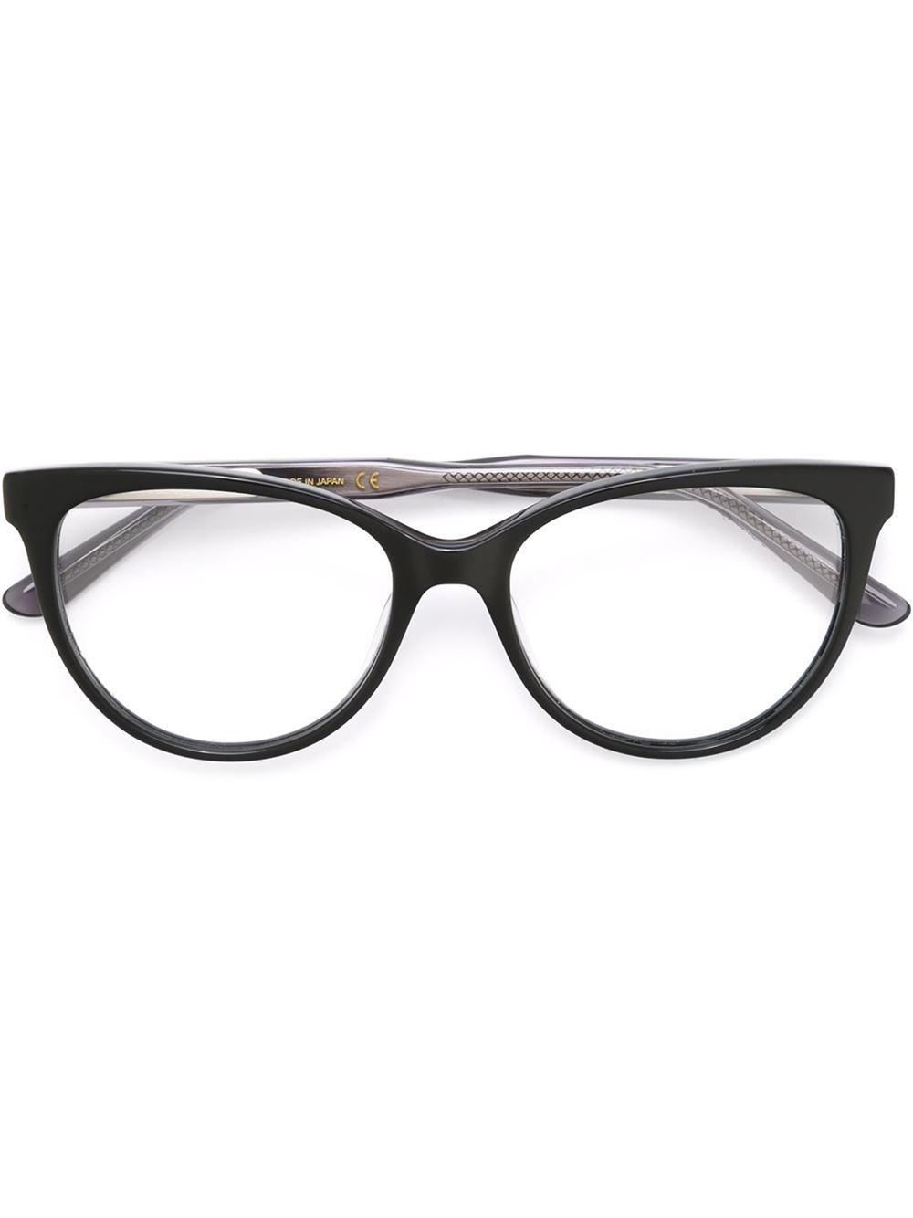Eyeglasses Black Frame : Bottega veneta Cat Eye Frame Glasses in Black Lyst