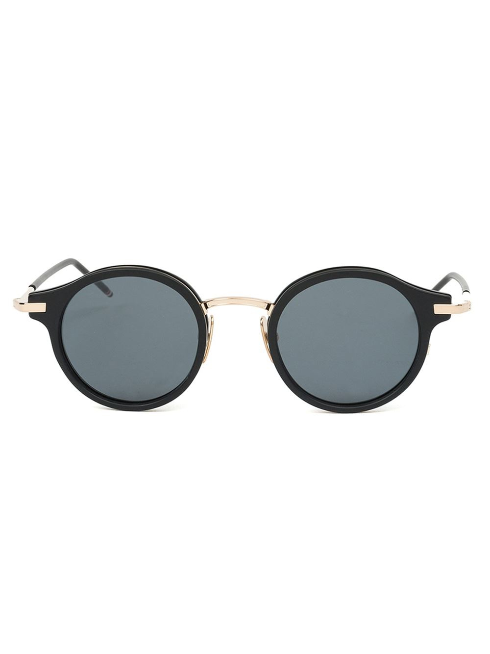 Round Gold Frame Sunglasses By Thom Browne : Thom browne Round Frame Sunglasses in Black for Men Lyst