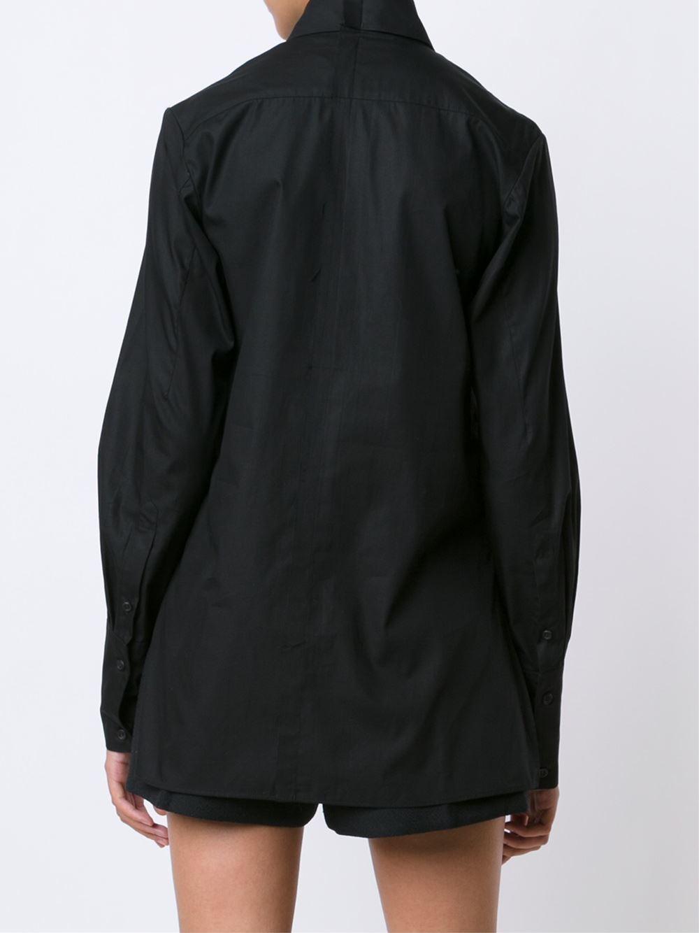 Lyst yang li soft dress shirt women cotton 40 in for Soft cotton dress shirts