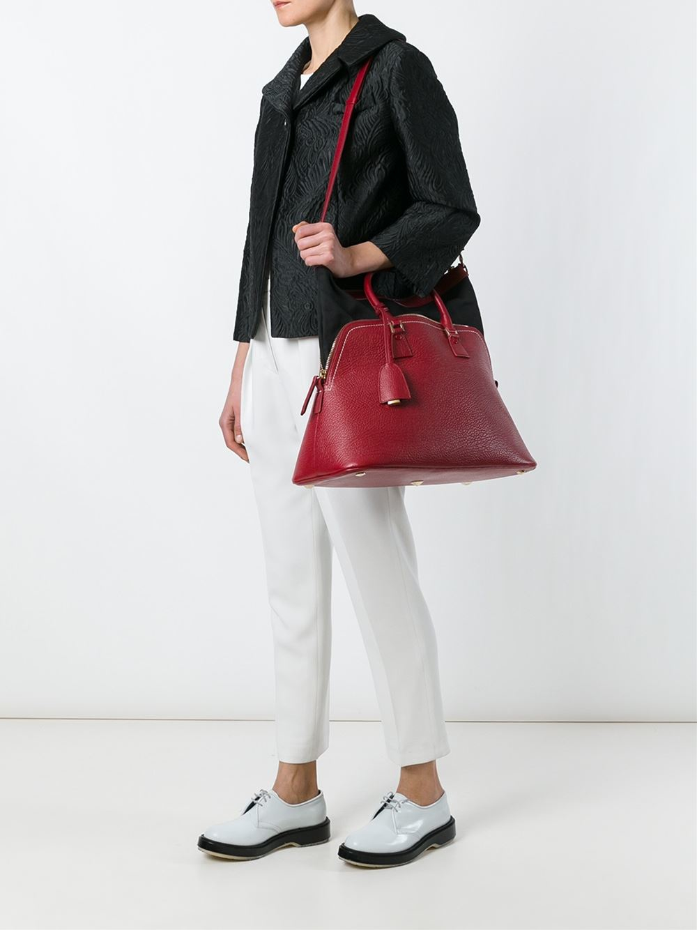 Lyst maison margiela 39 5ac 39 tote in red for Maison de margiela