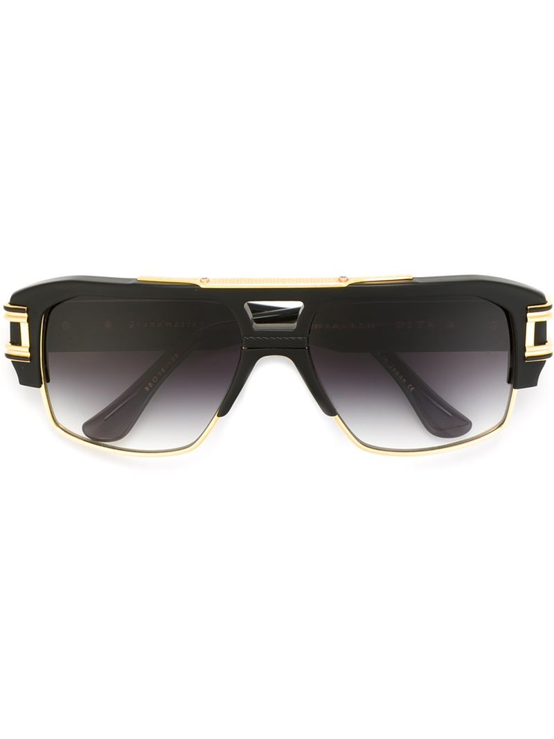 Dita eyewear 'grandmaster Four' Sunglasses in Gold (BLACK ... Dita Eyewear