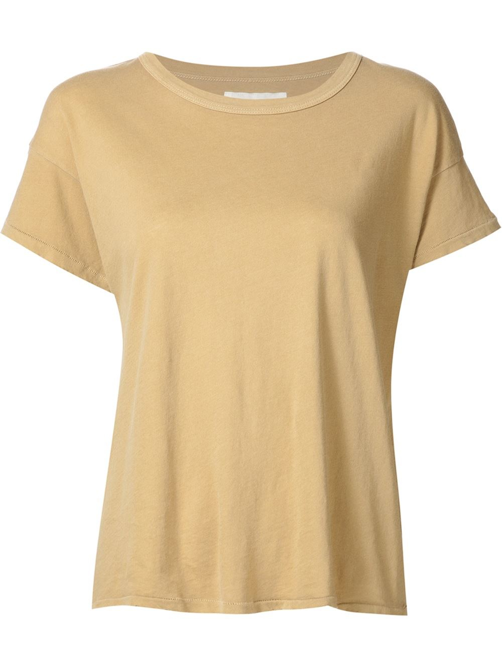 Lyst the great classic t shirt in natural The great t shirt
