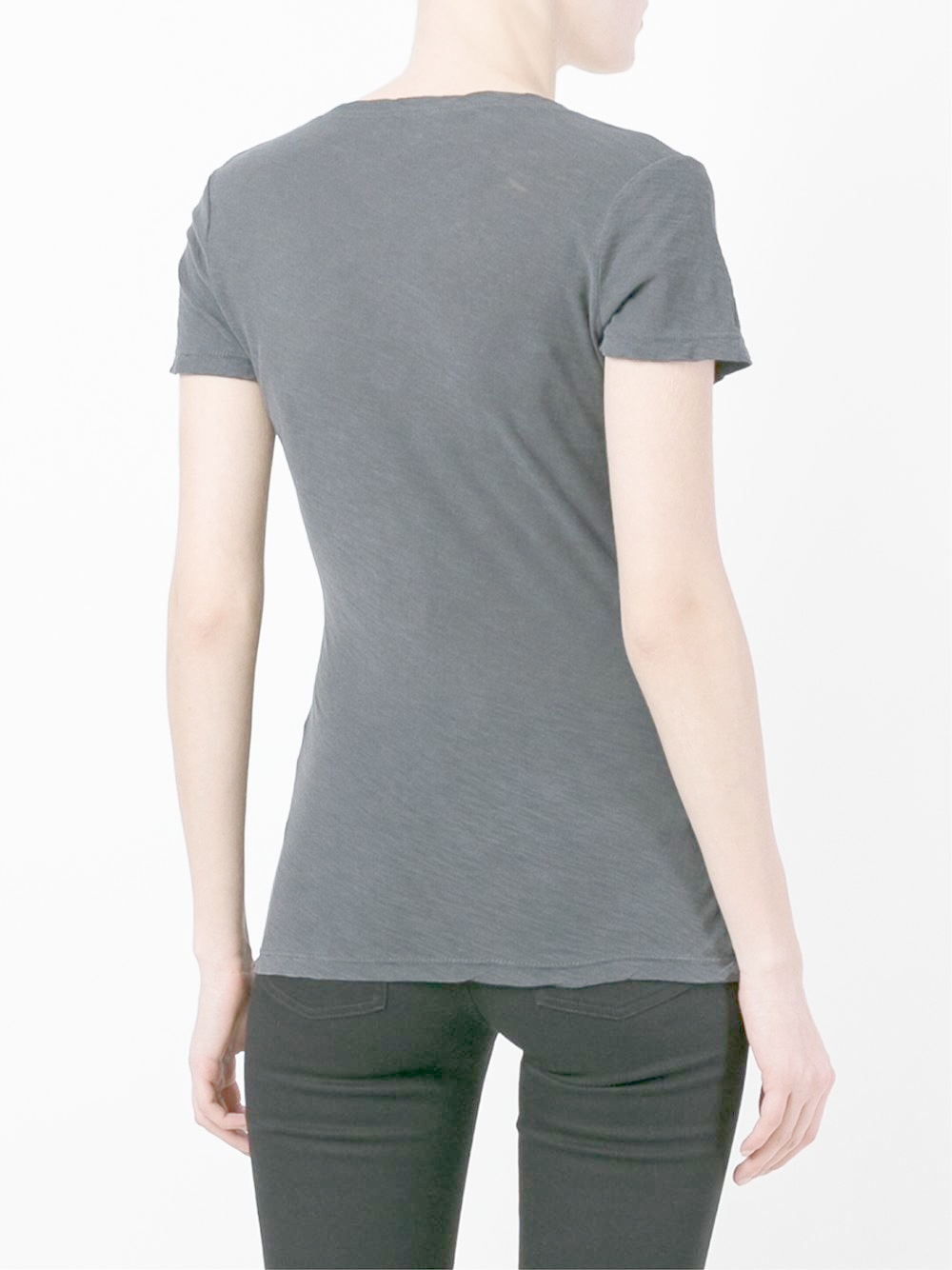 james perse v neck t shirt in black lyst