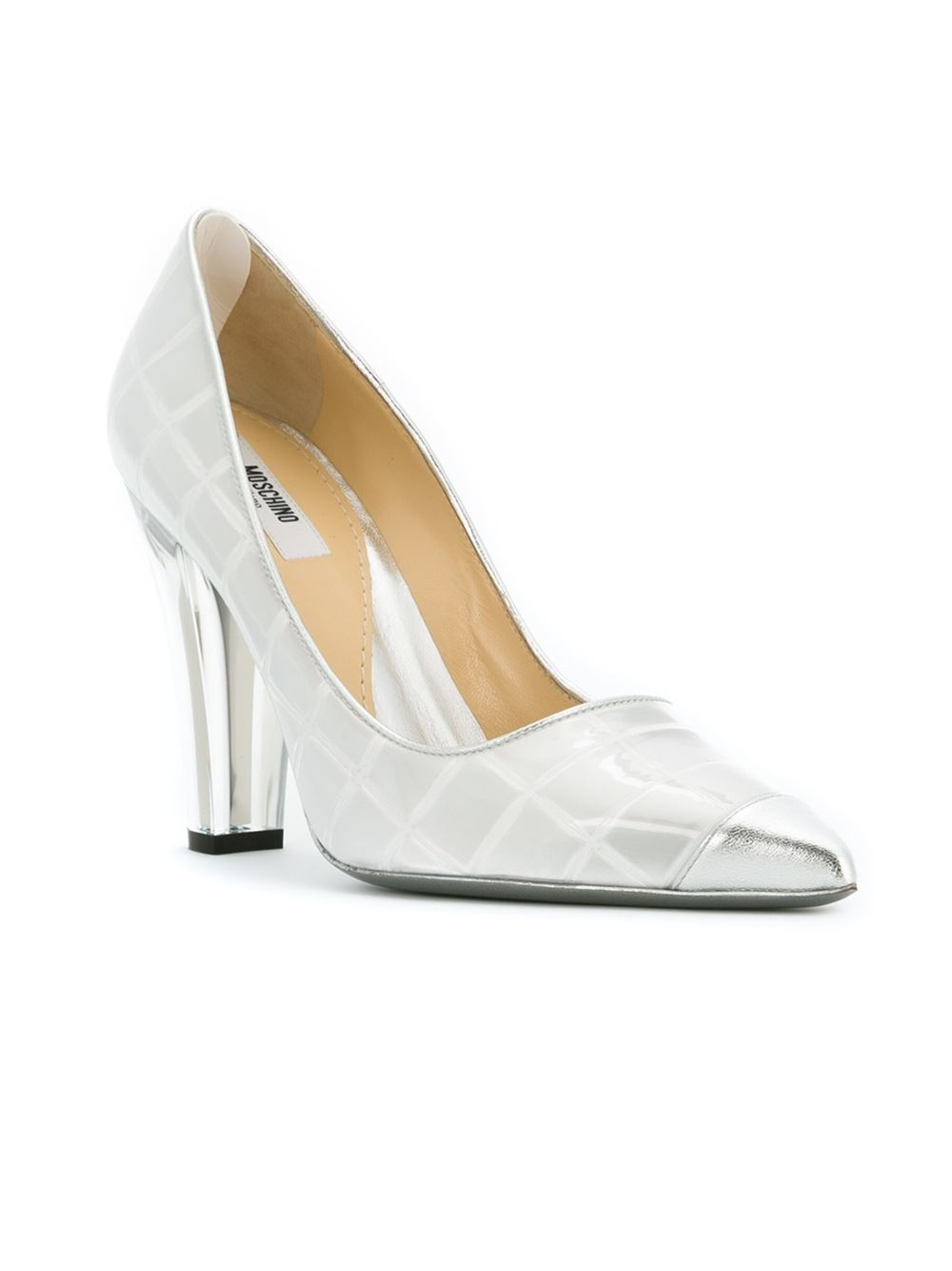 Lyst Moschino Transparent Heel Pumps In White