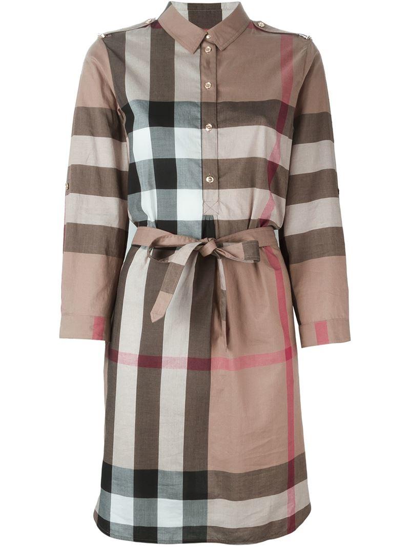 Burberry 39 House Check 39 Shirt Dress Lyst
