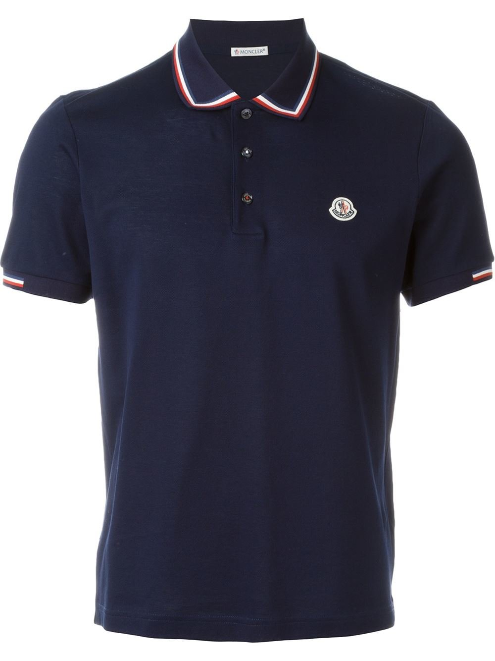 moncler logo polo shirt in blue for men lyst. Black Bedroom Furniture Sets. Home Design Ideas