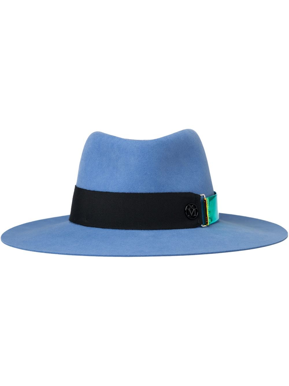 Maison michel 39 charles 39 hat in blue lyst for Maison michel