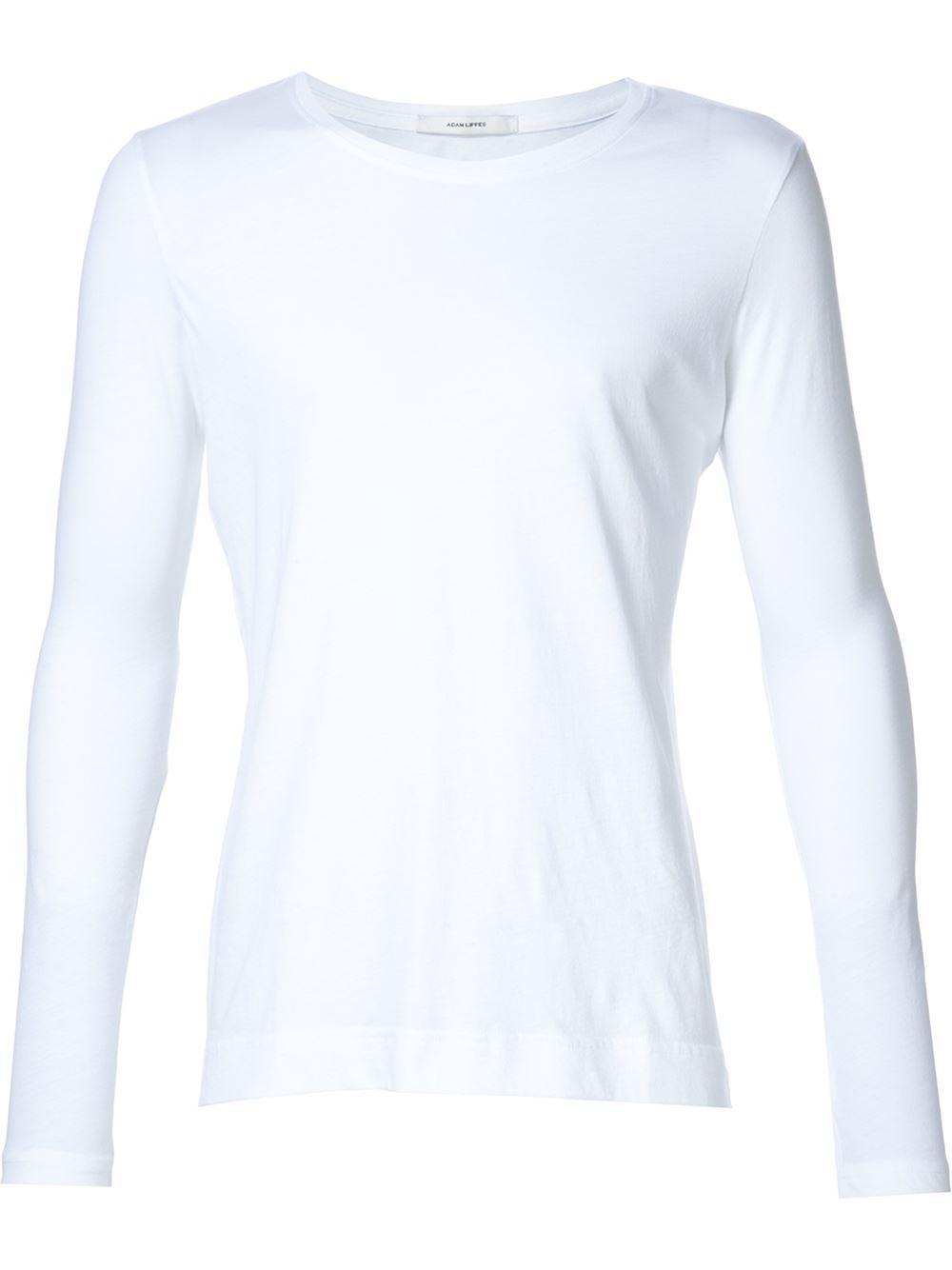 adam lippes longsleeved t shirt in white for men lyst