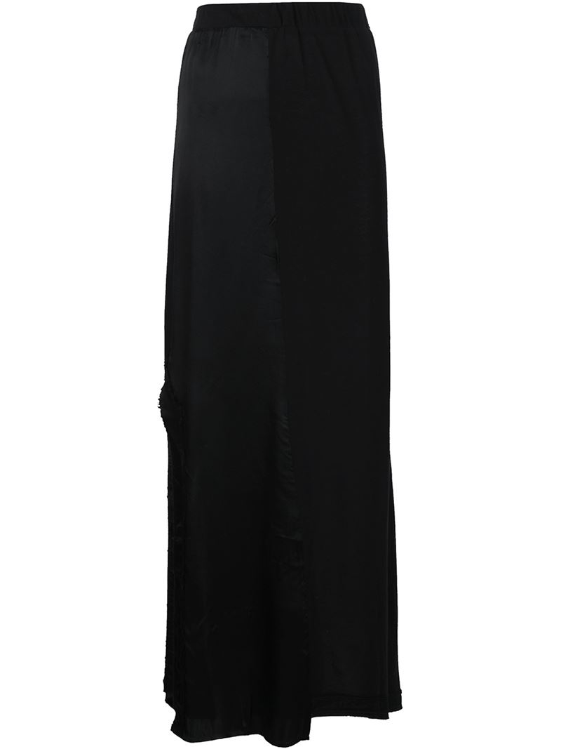 rta side slit maxi skirt in black save 56 lyst