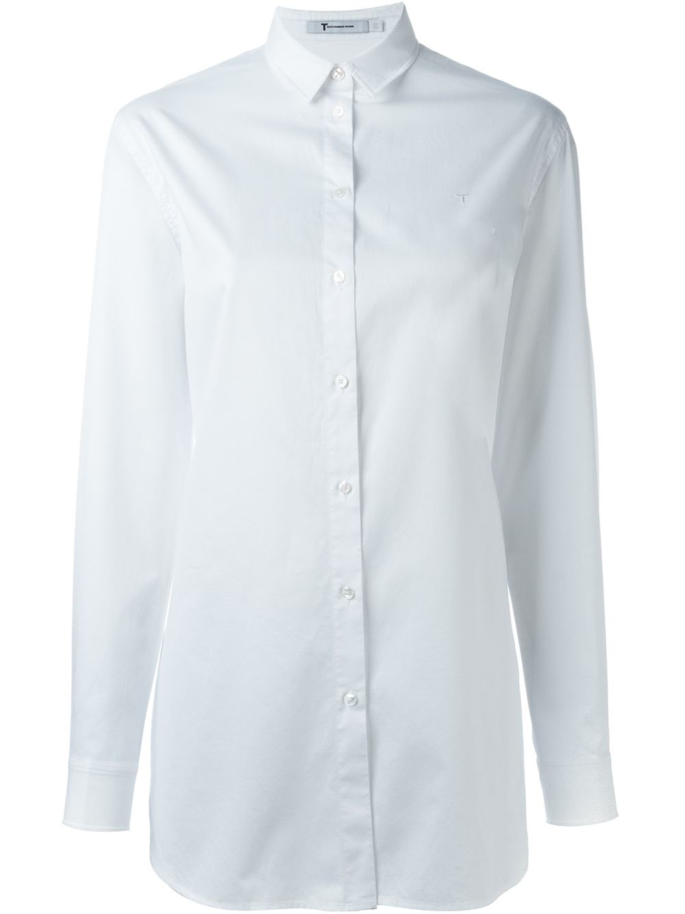 t by alexander wang oversized shirt in white save 50 lyst. Black Bedroom Furniture Sets. Home Design Ideas