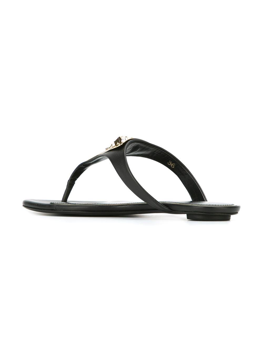 99b1439efbb Lyst - Versace  medusa Palazzo  Thong Sandals in Black