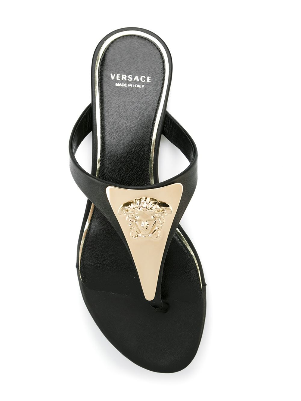 d2d0638759b54b Lyst - Versace  medusa Palazzo  Thong Sandals in Black