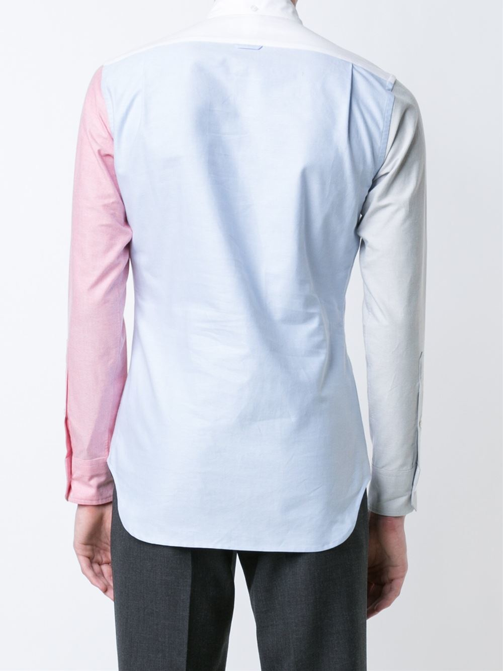 Thom browne seagull embroidery shirt in blue for men lyst for Thom browne shirt sale