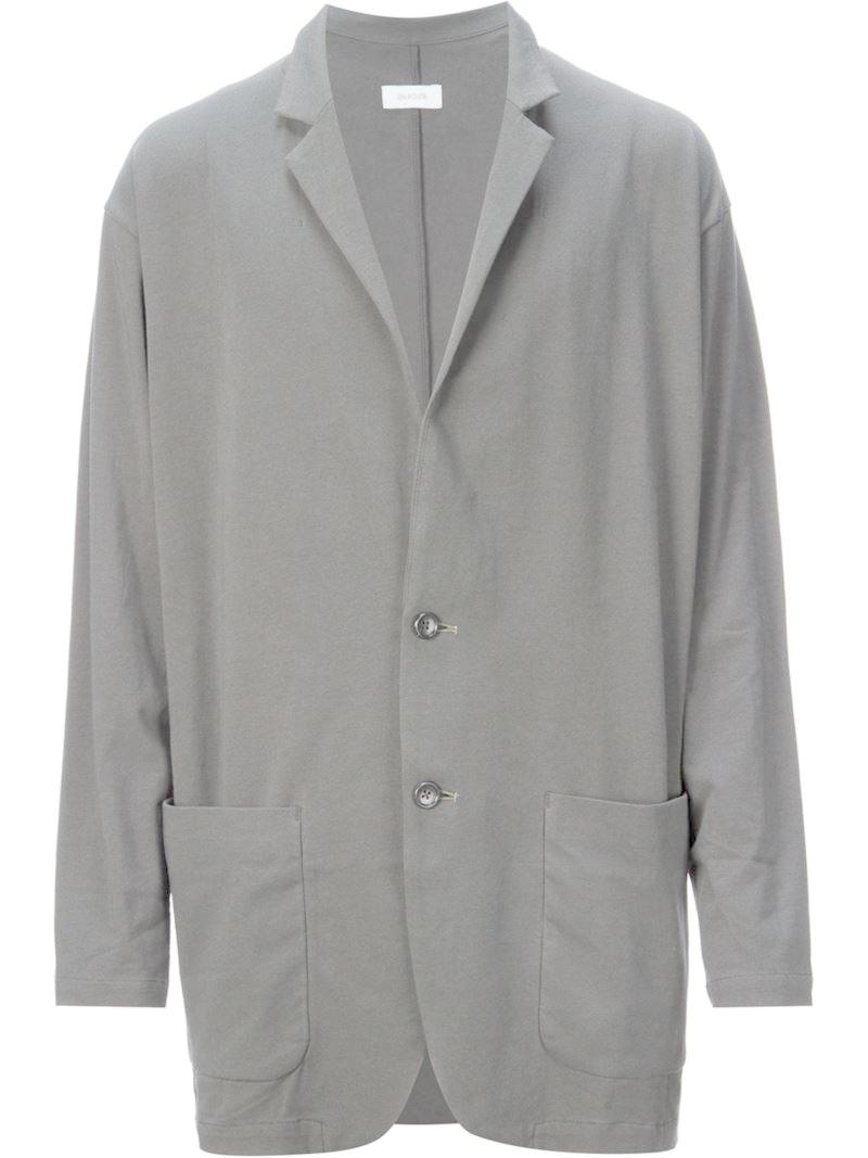 Lyst En Route Loose Fit Blazer In Gray For Men
