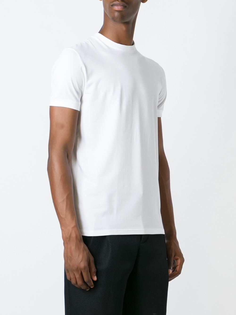 Dsquared slim fit t shirt in white for men lyst for Slim fit white t shirt
