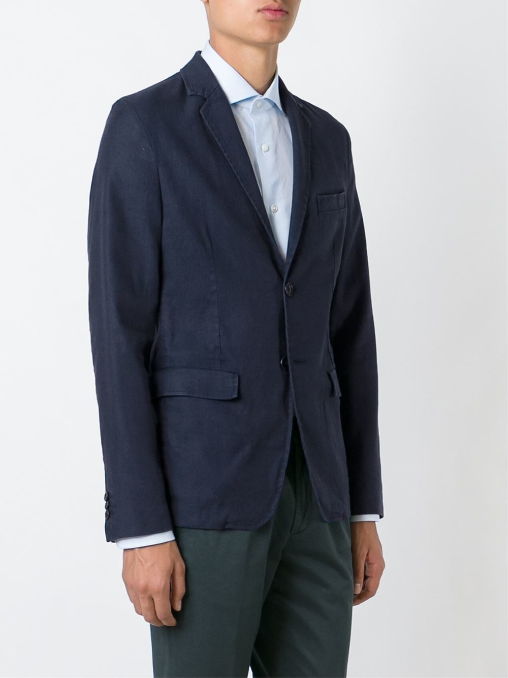 Lyst Aspesi Sack Blazer In Black For Men